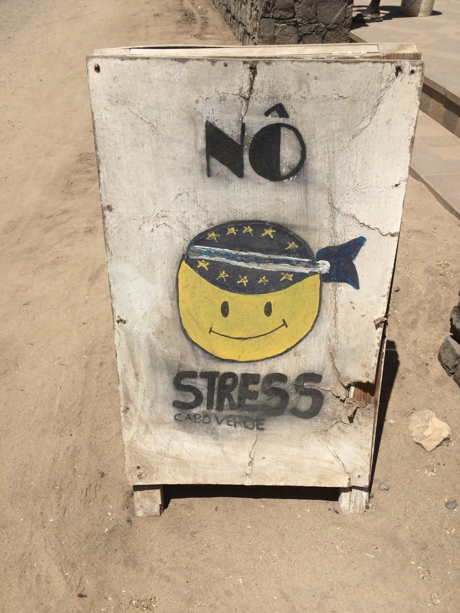 No stress sign, Sal Island, Cape Verde