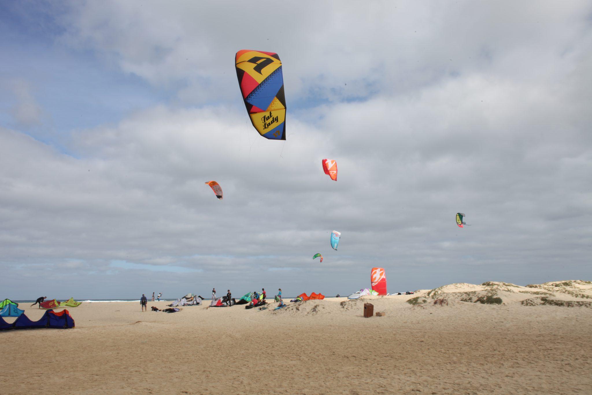 Kitesurfing beach, Sal Island, Cape Verde