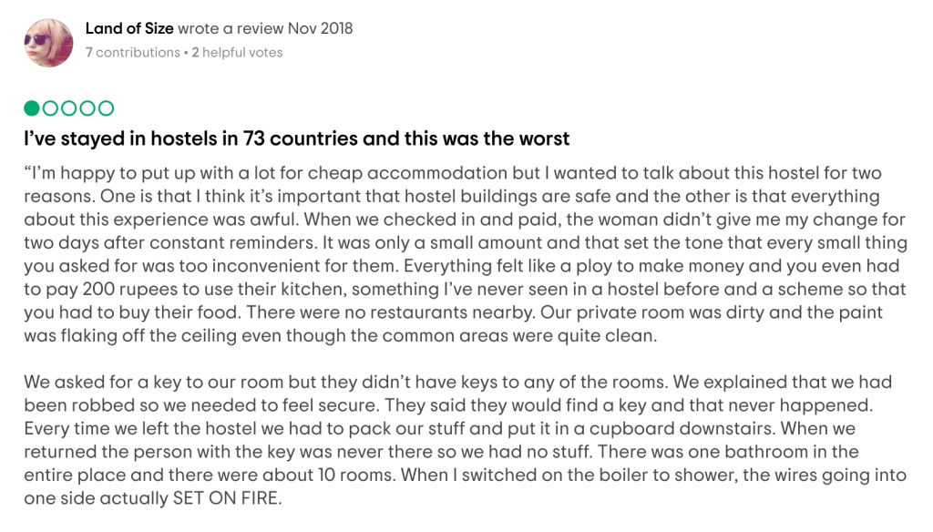 My Tripadvisor Review for Lazy Mozo Backpackers