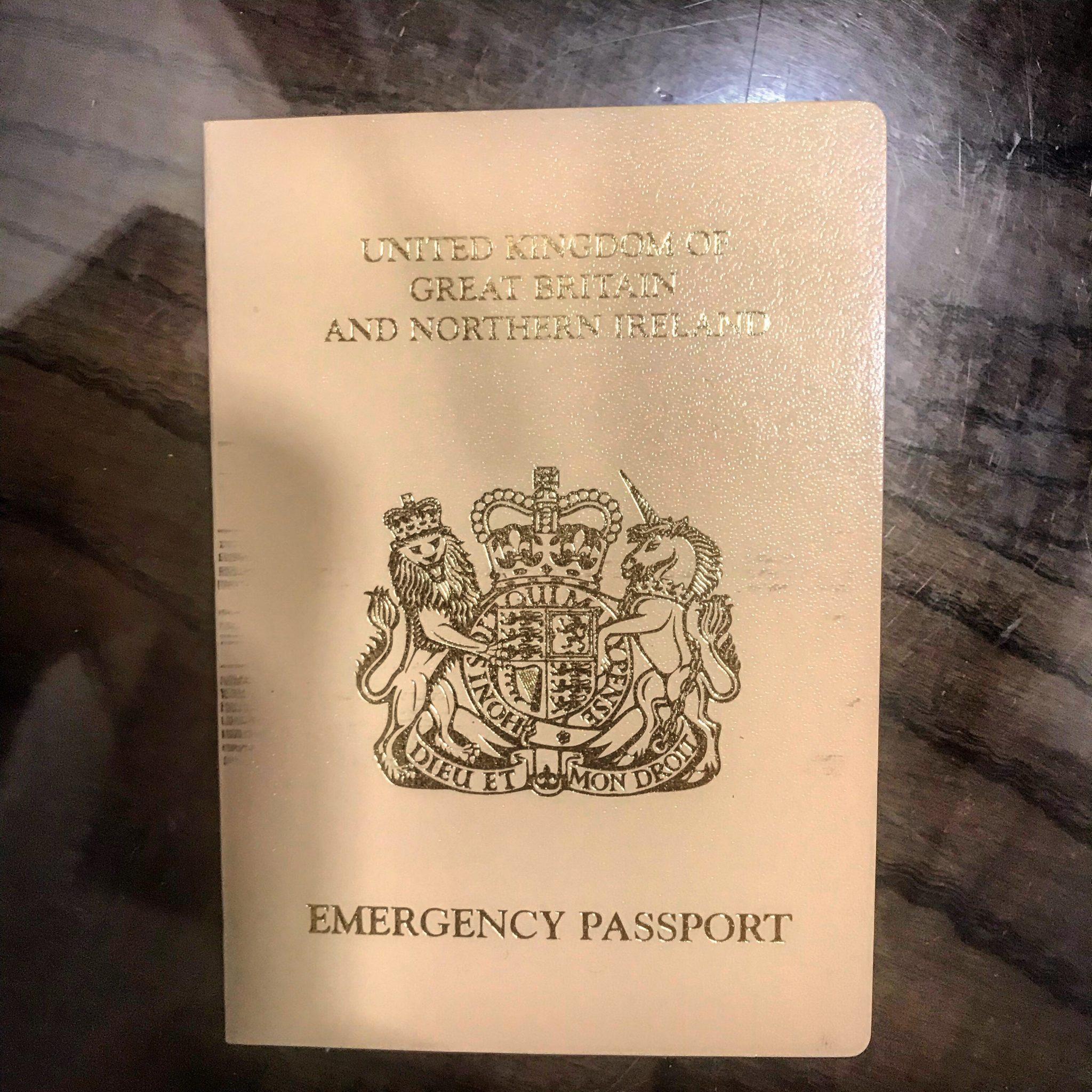 Emergency British passport