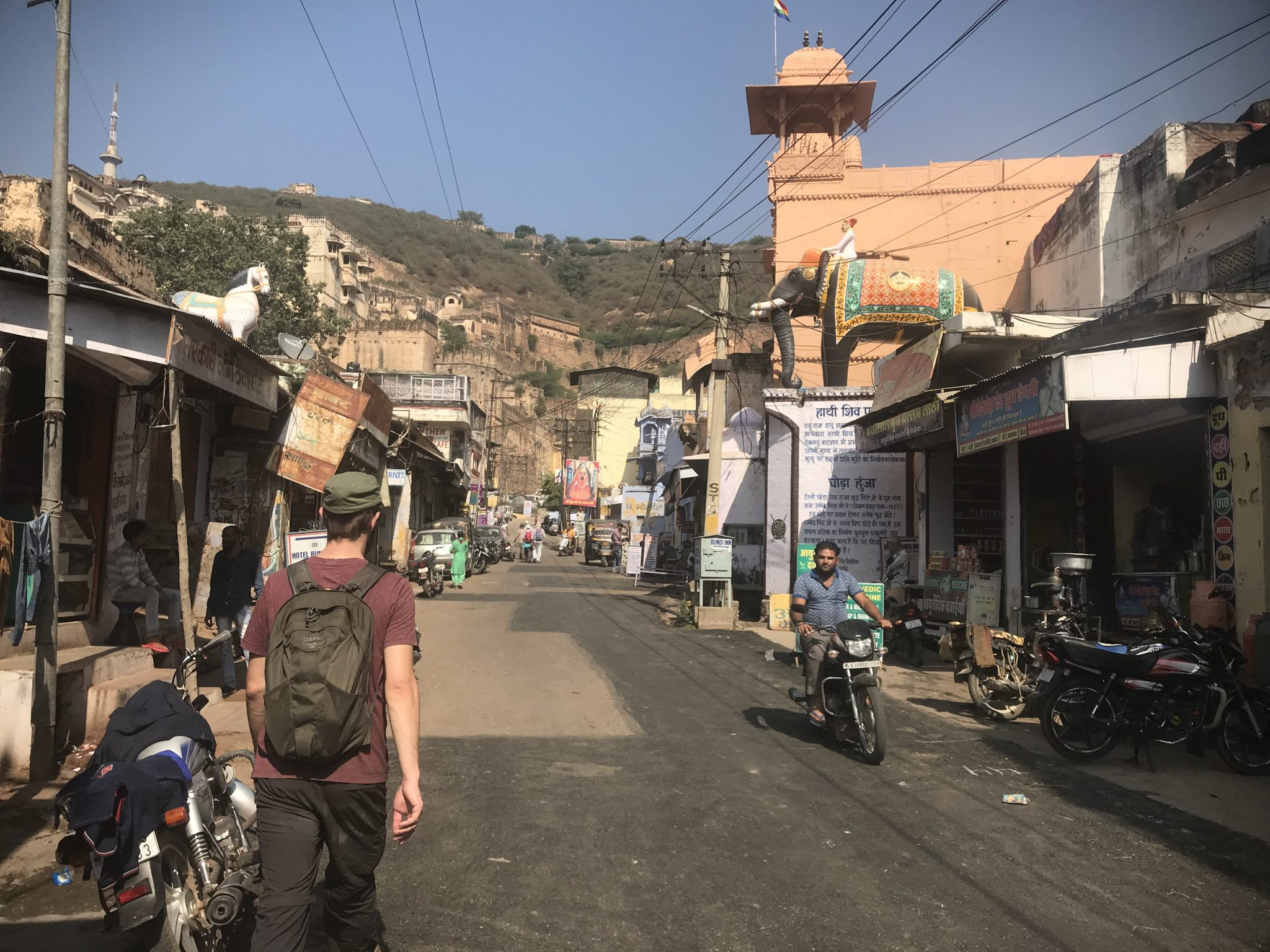 The backpacker district of Bundi