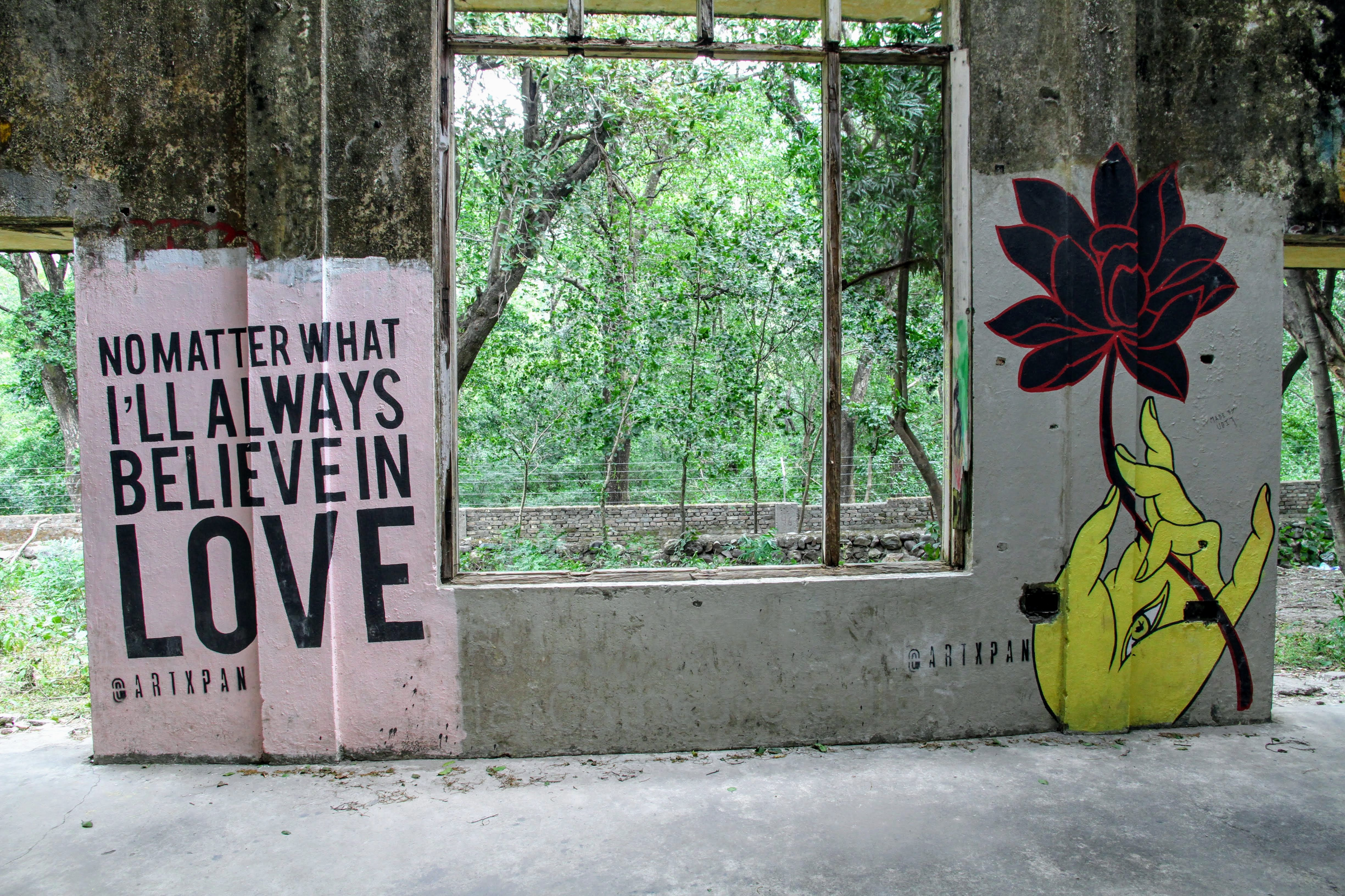 I'll Always Believe in Love graffiti, The Beatles Ashram, Rishikesh