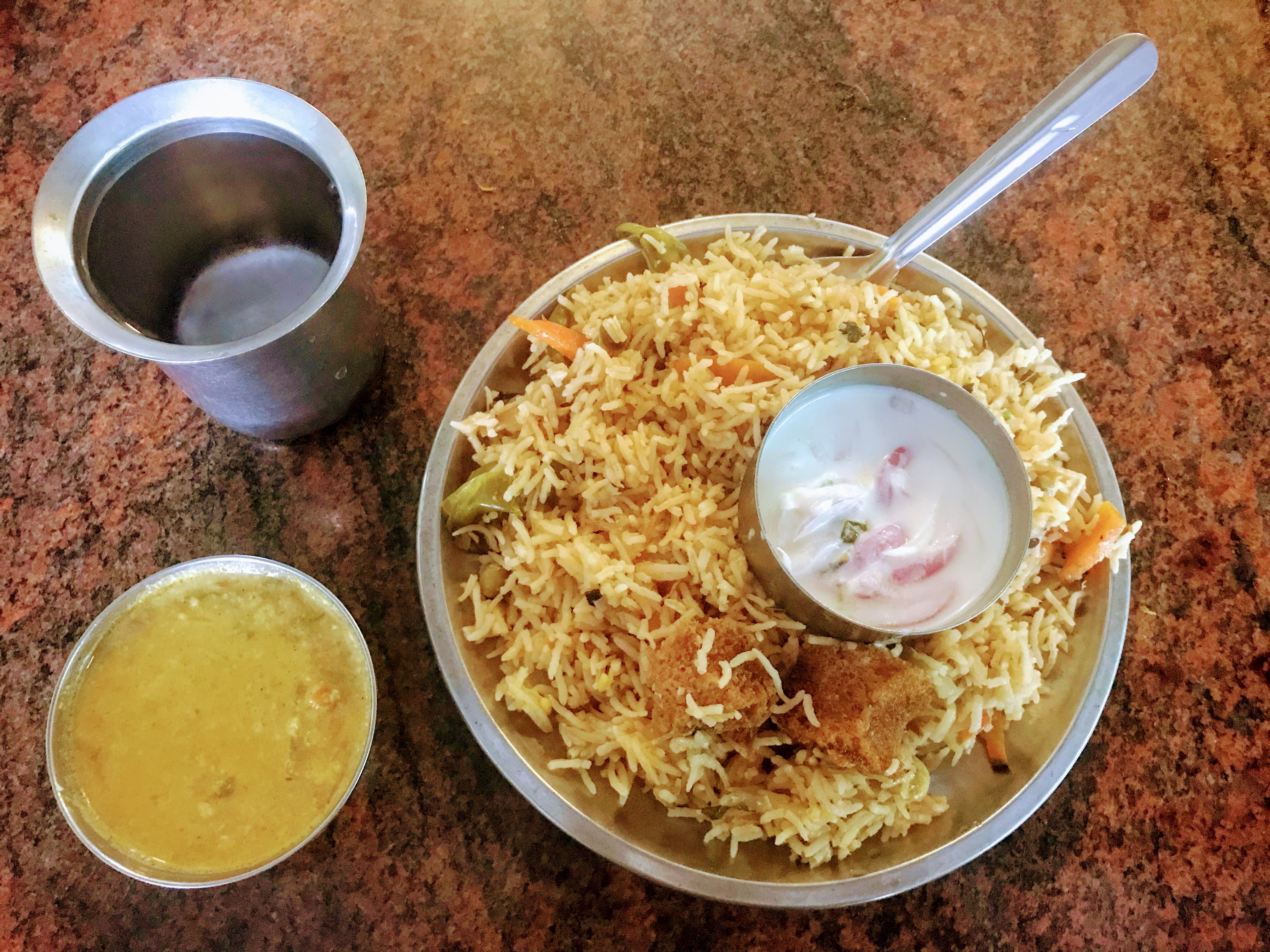 Biriyani at Indian Coffee House from Life of Pi, Pondicherry