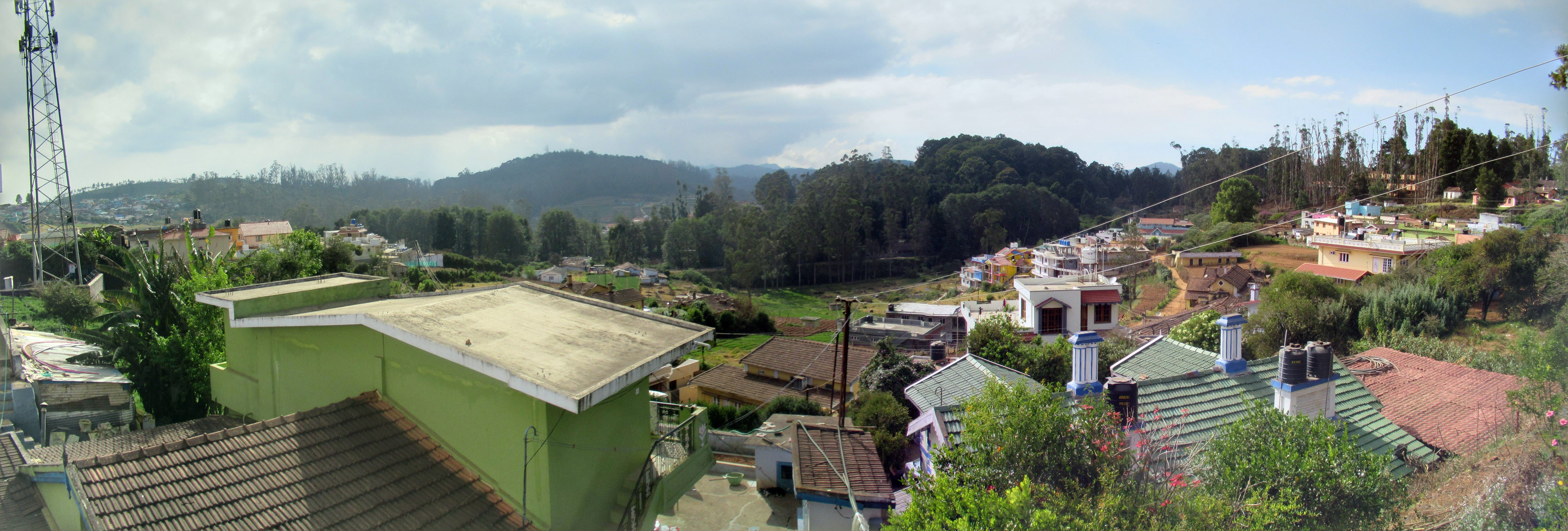 The rooftops of Ooty