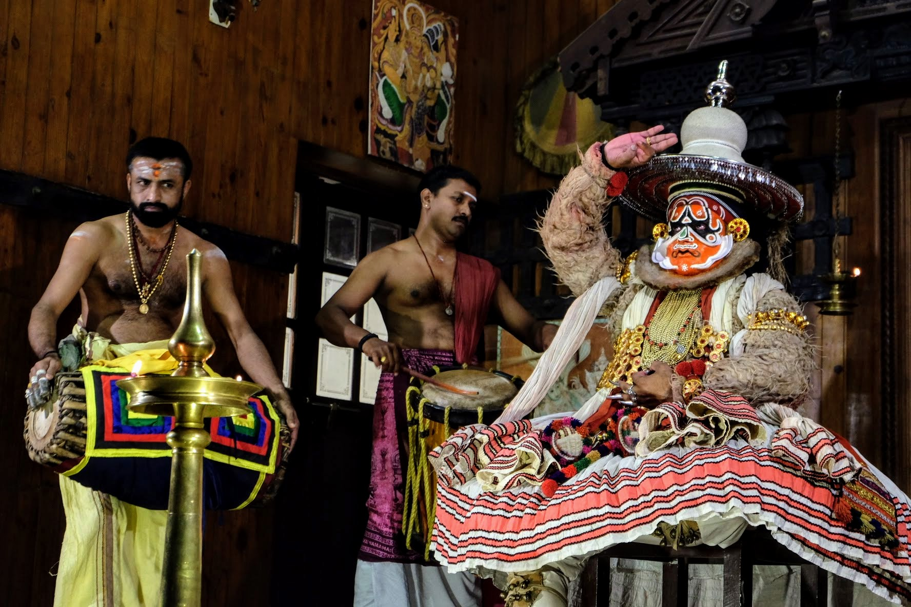 Hanuman at the Kathakali Centre in Fort Kochi