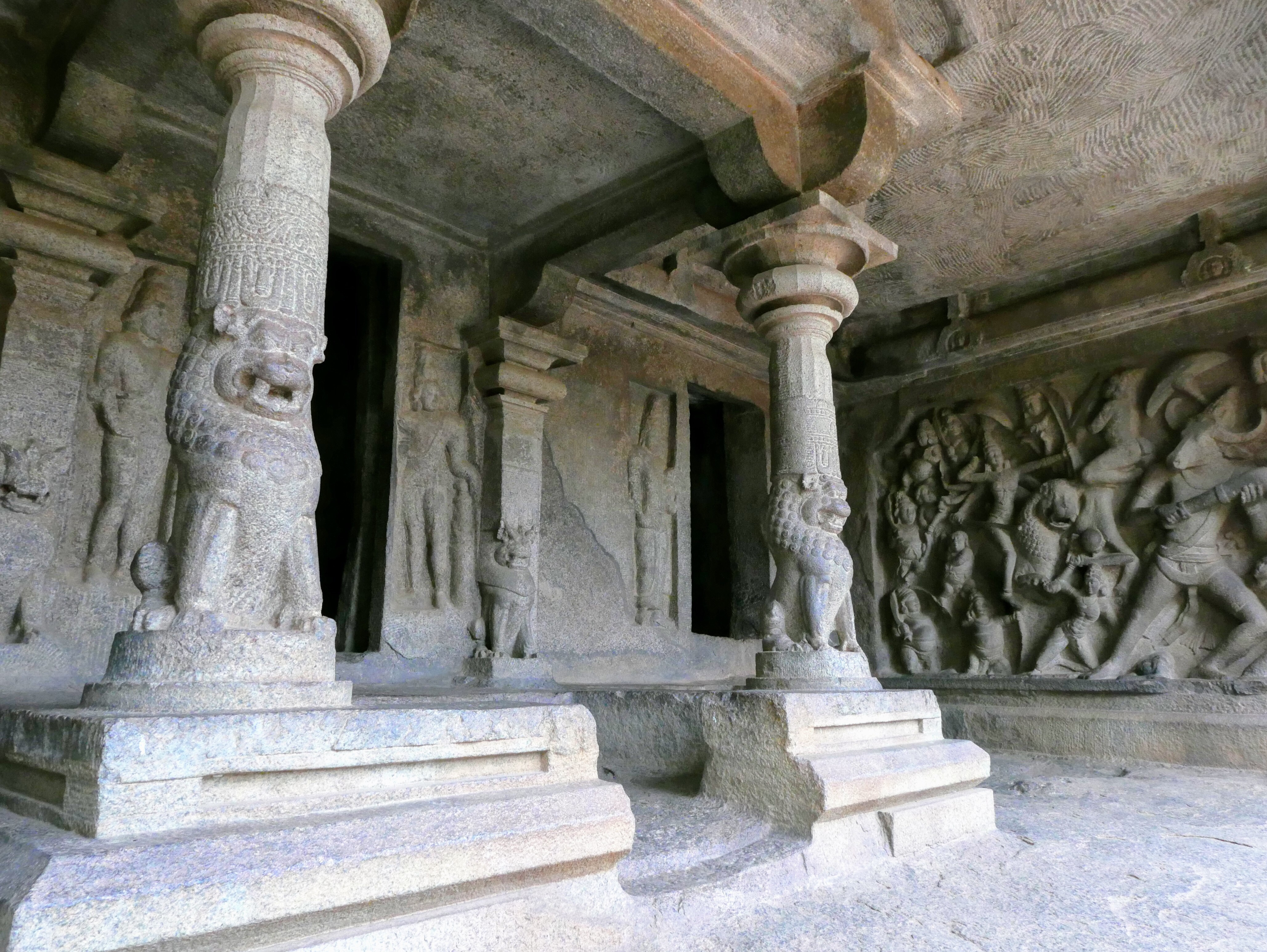 Varaha cave temple, Mahabalipuram, South India.