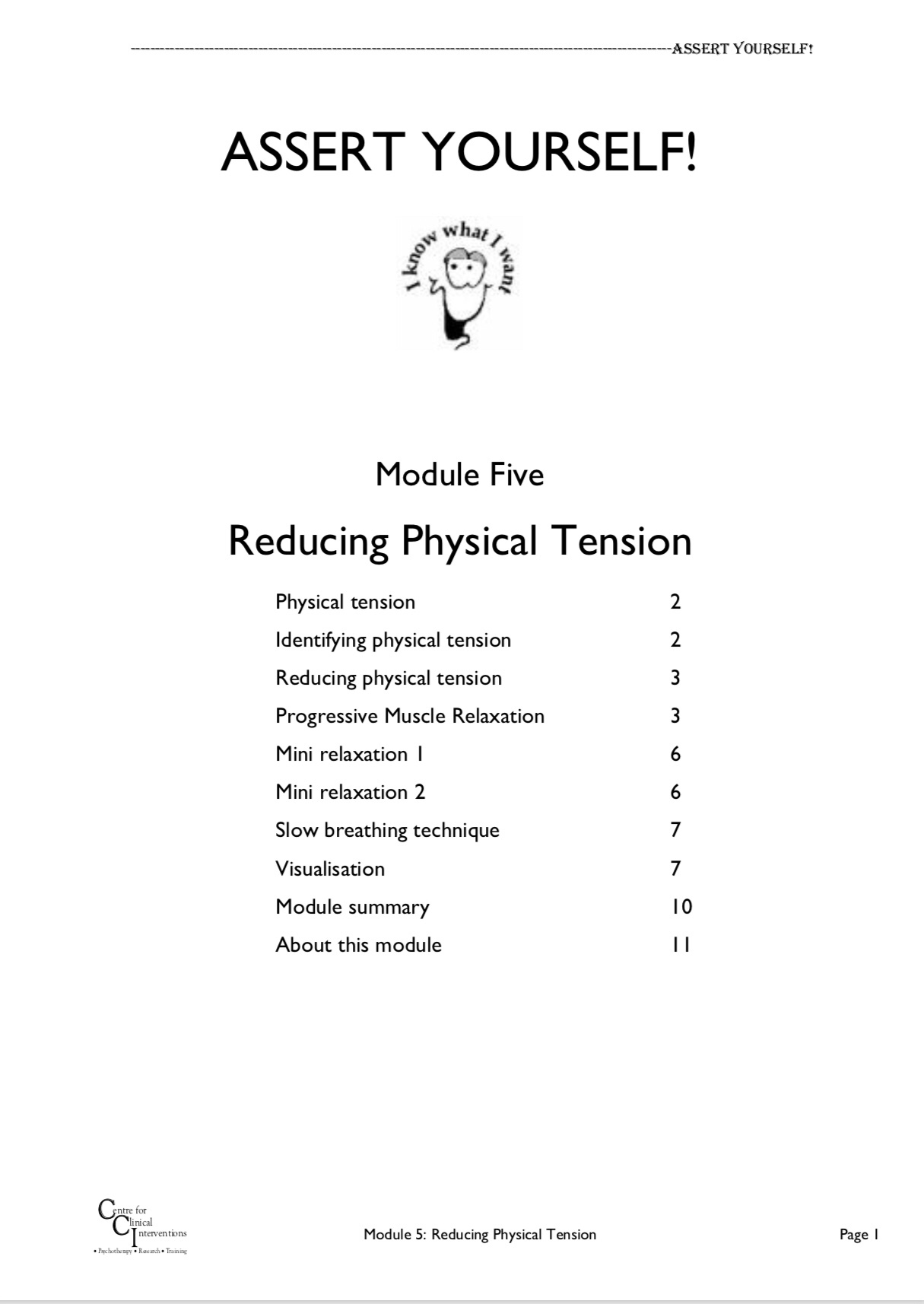 CBT example module on releasing tension