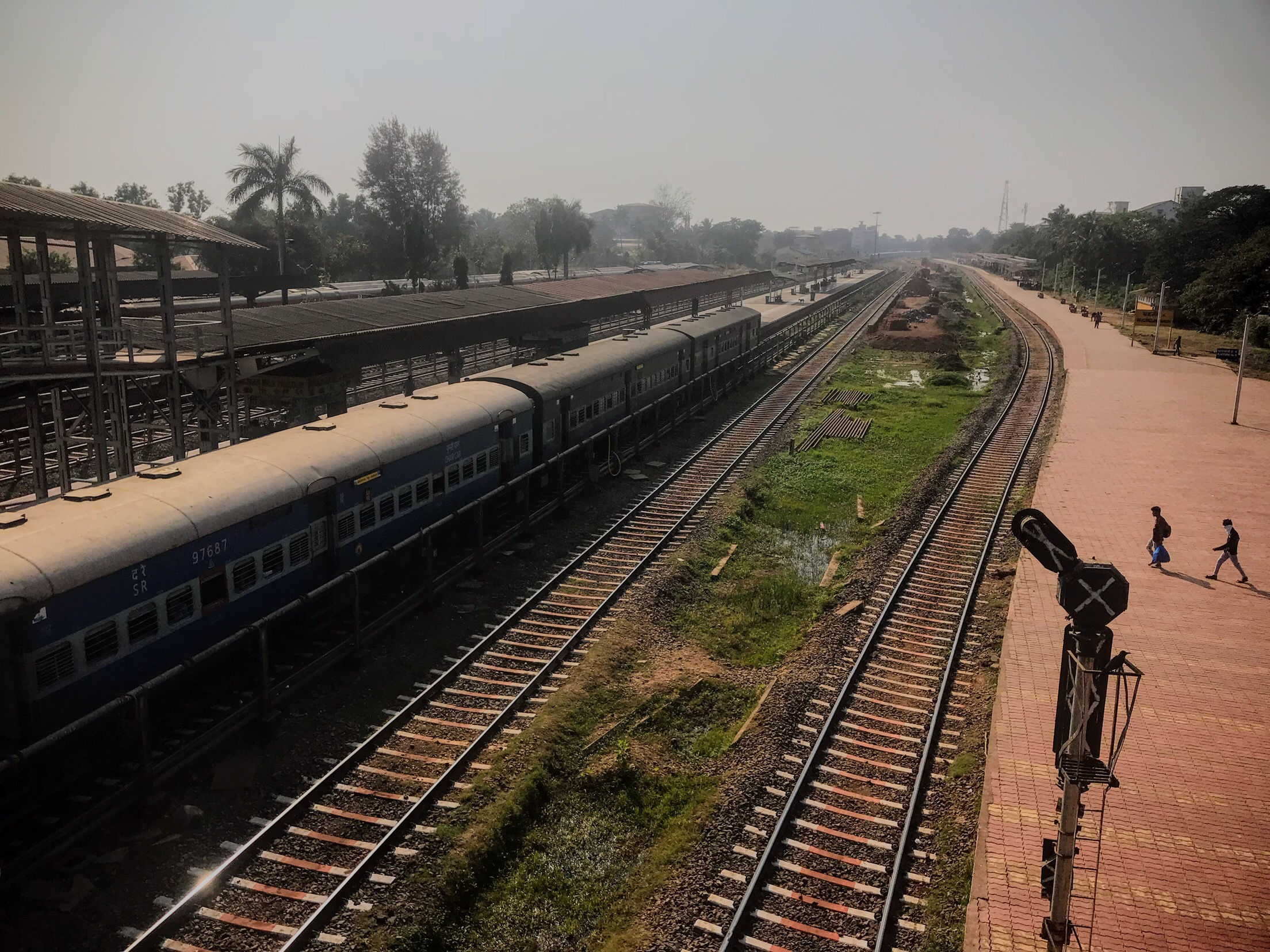 Train station in India