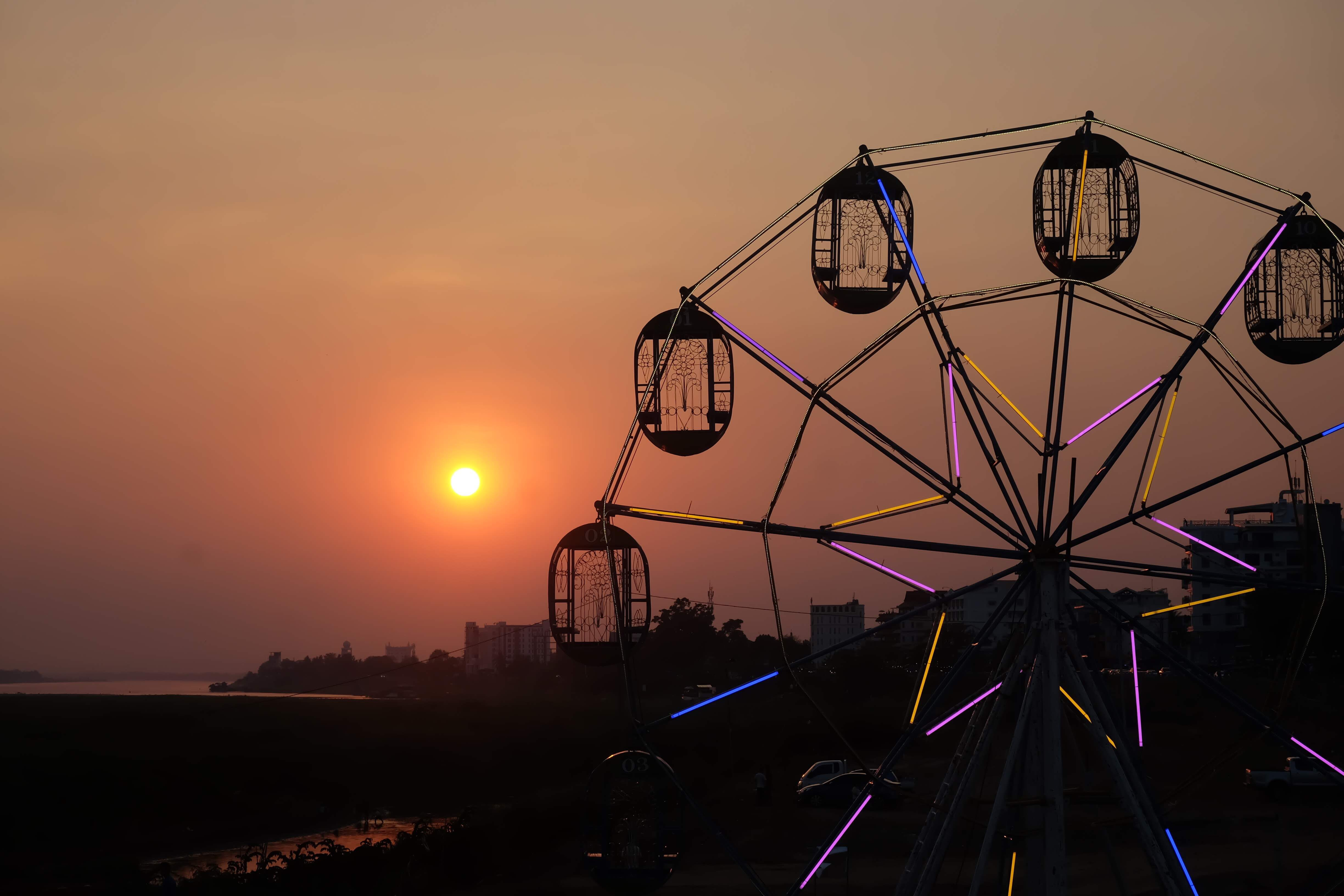Ferris wheel in Vientiane, Laos