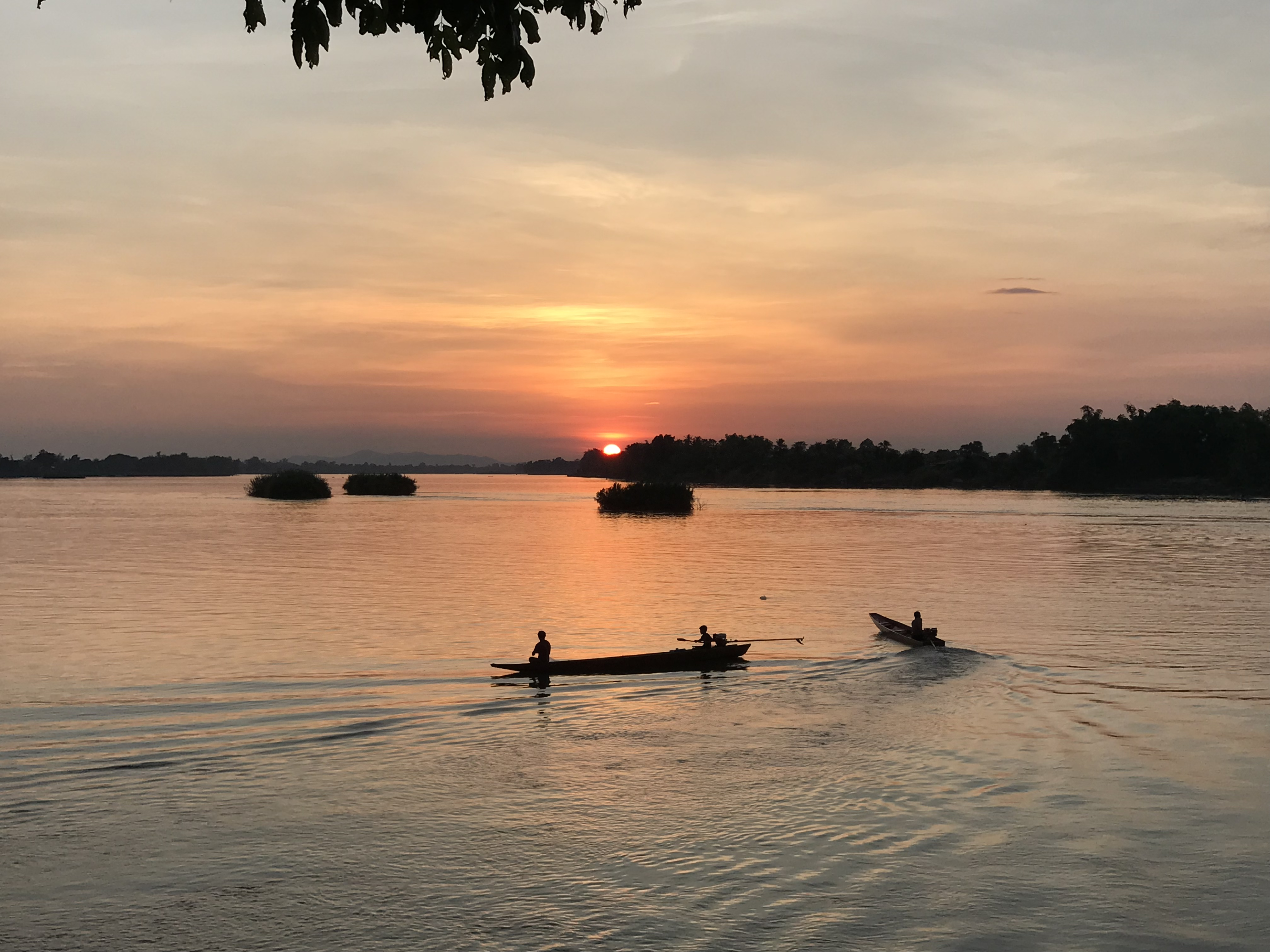 Sunset over the Mekong, Don Det, Laos