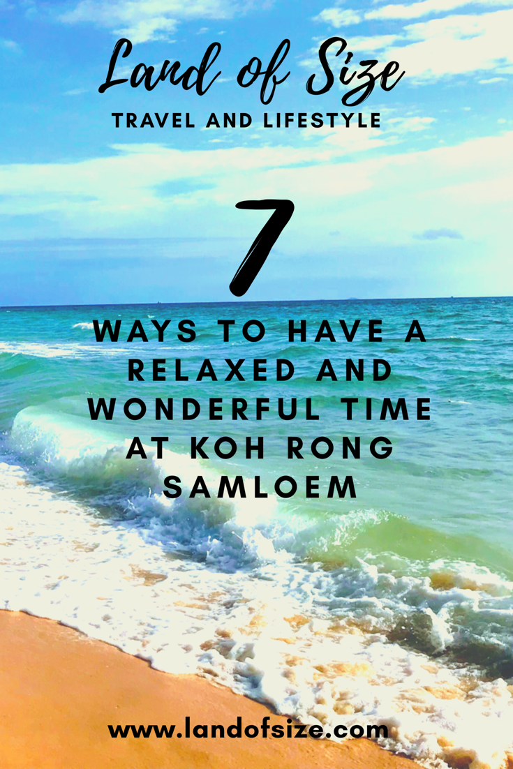 7 ways to have a relaxed and wonderful time at Koh Rong Samloem