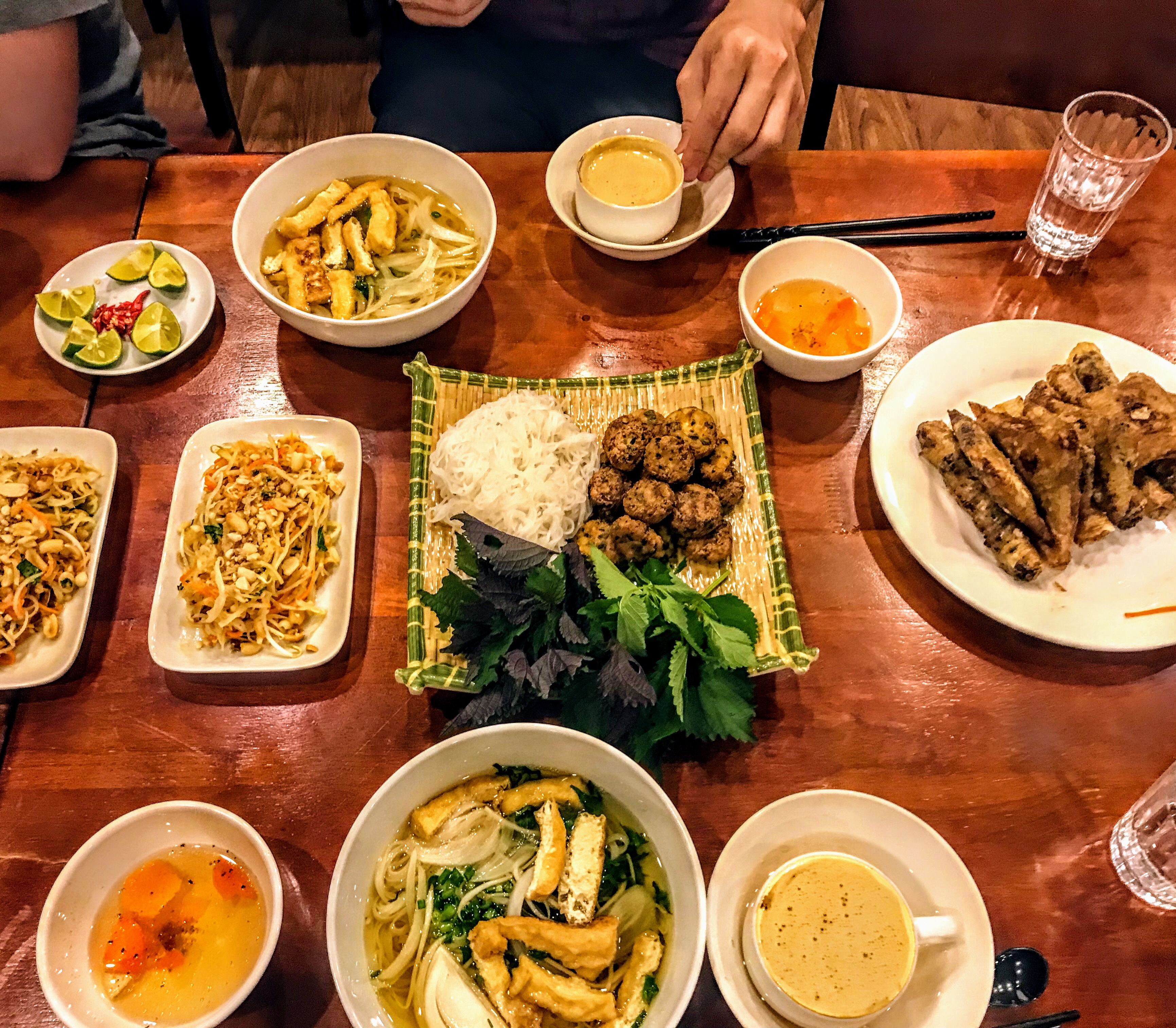 Vietnamese meal at a cooking class, Hanoi