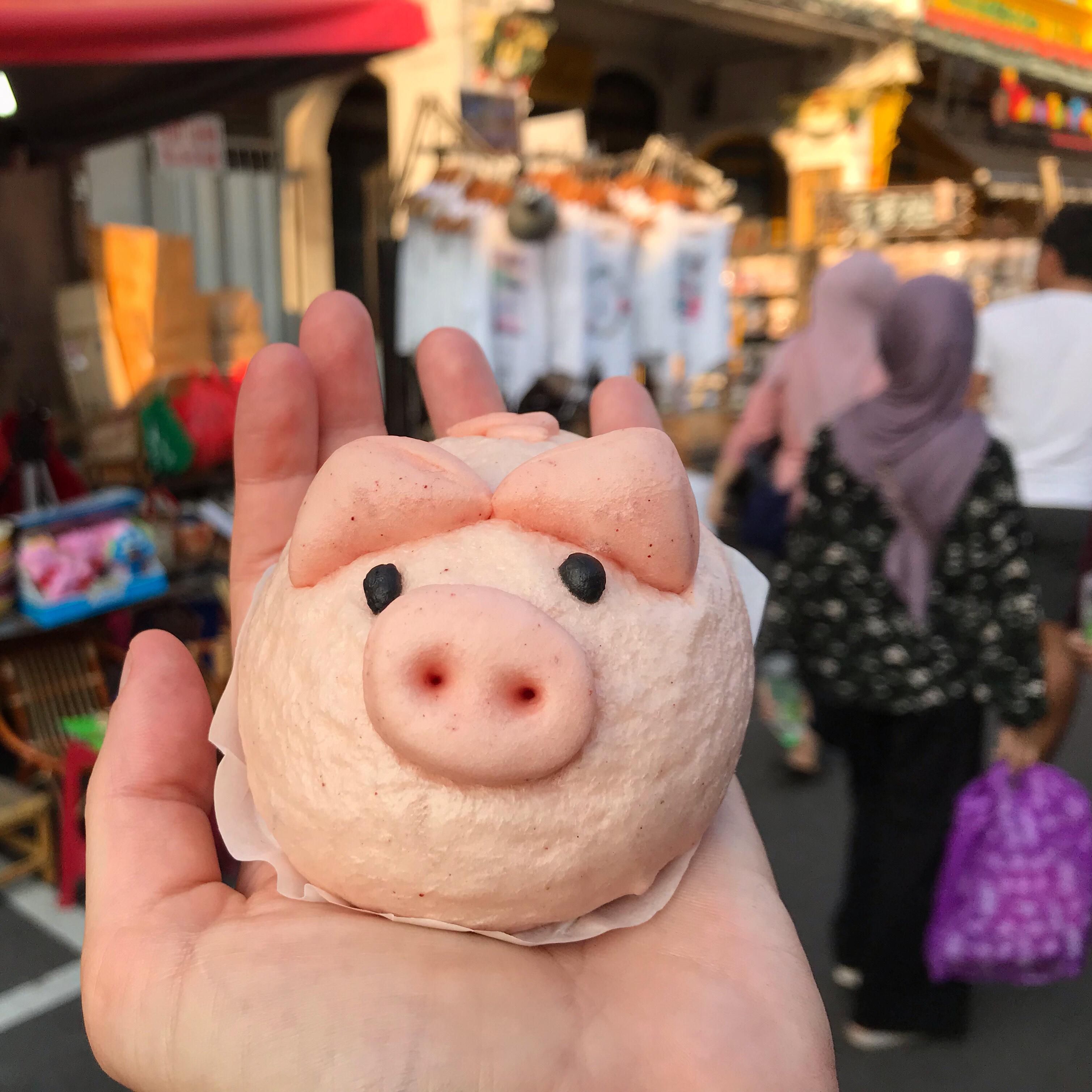 Pig steamed bun, Jonker Street, Melaka, Malaysia