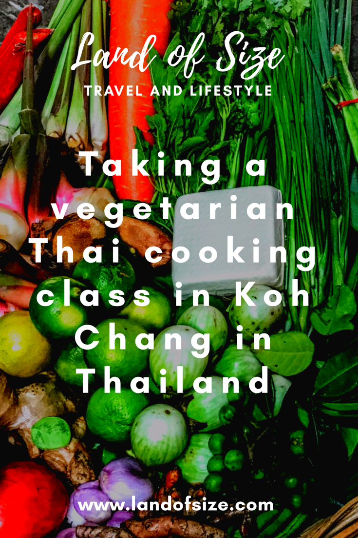Taking a vegetarian Thai cooking class in Koh Chang in Thailand
