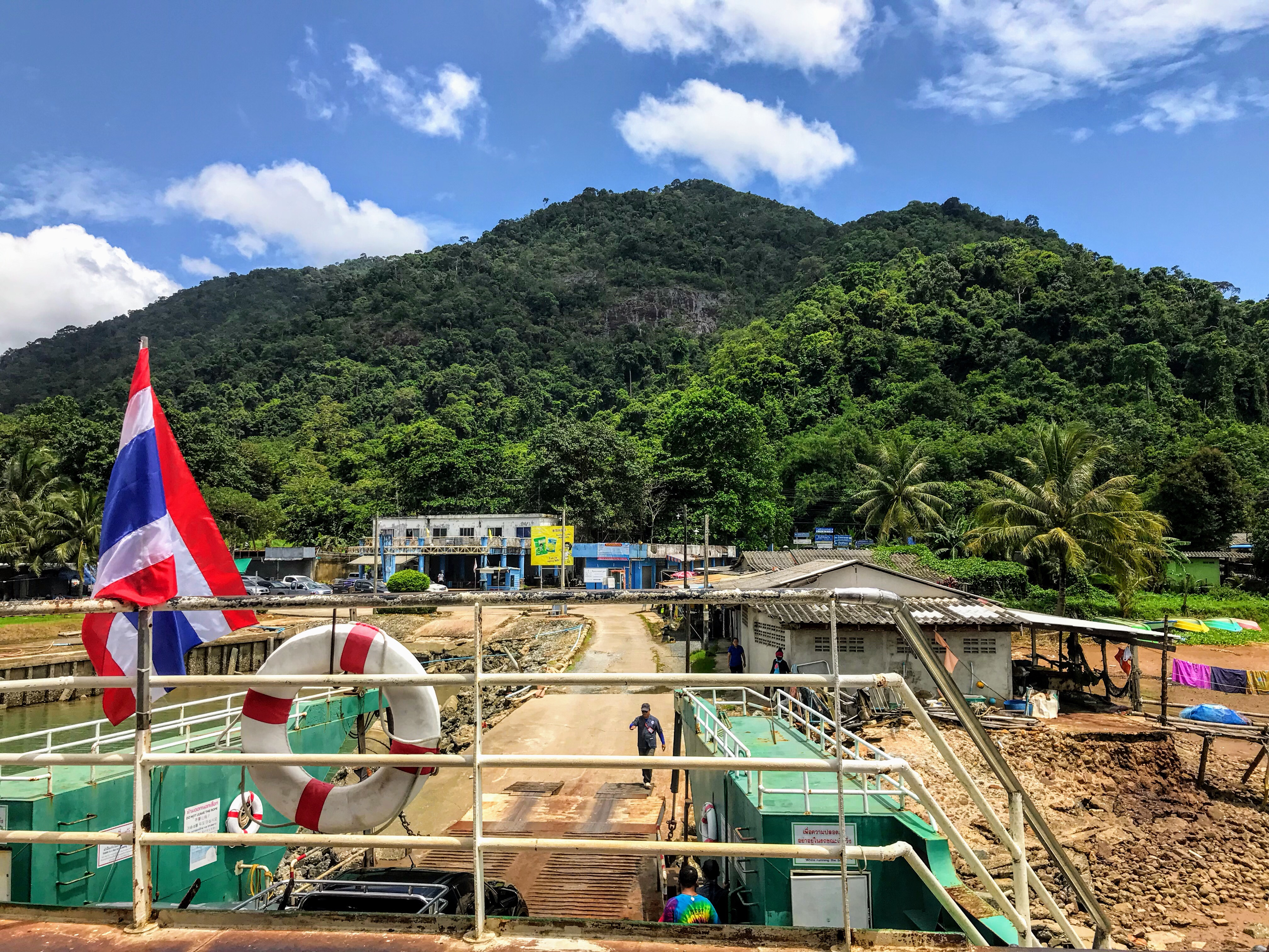 Arriving at Koh Chang port, Thailand