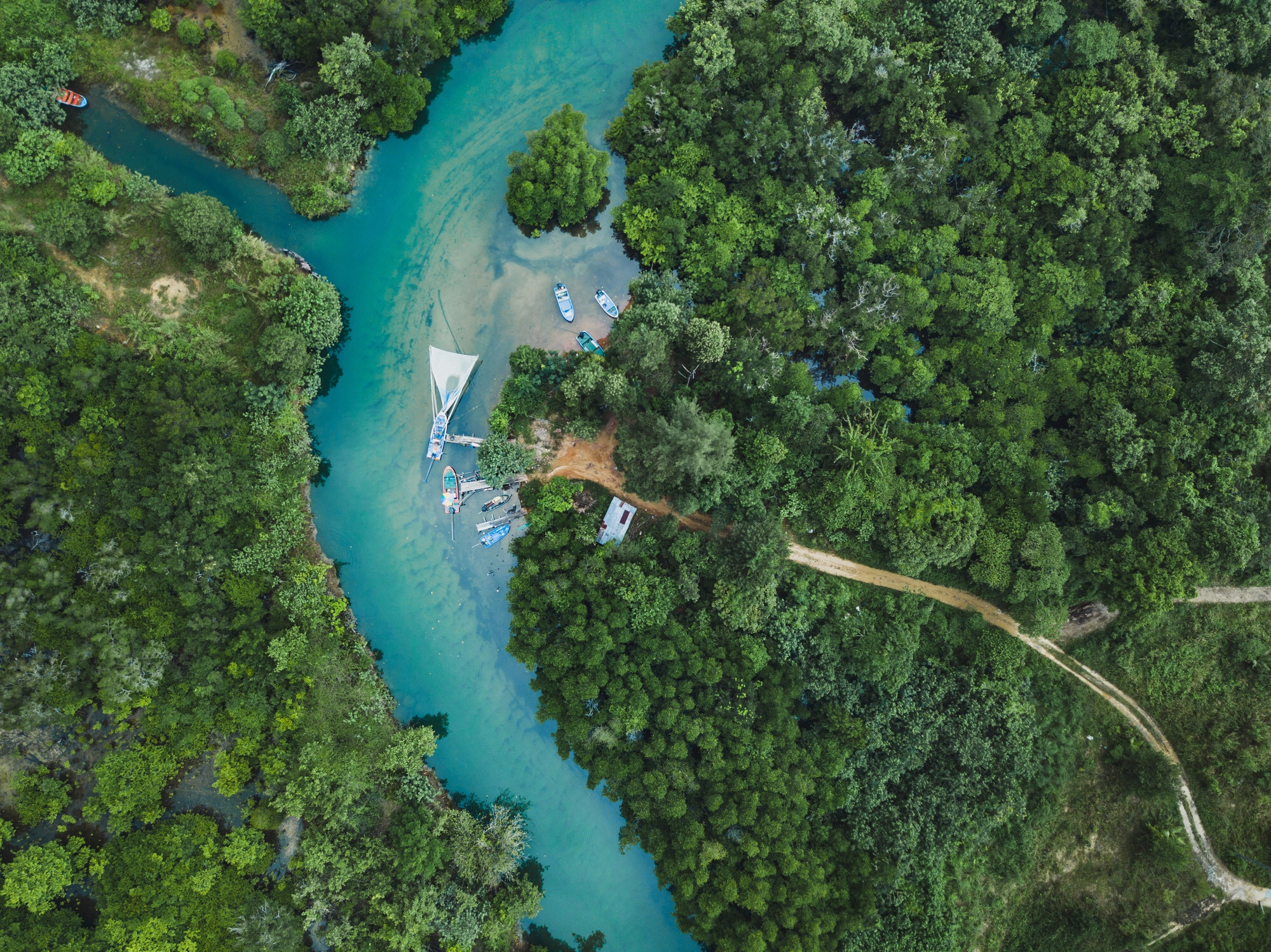 Aerial view of Koh Chang, Thailand