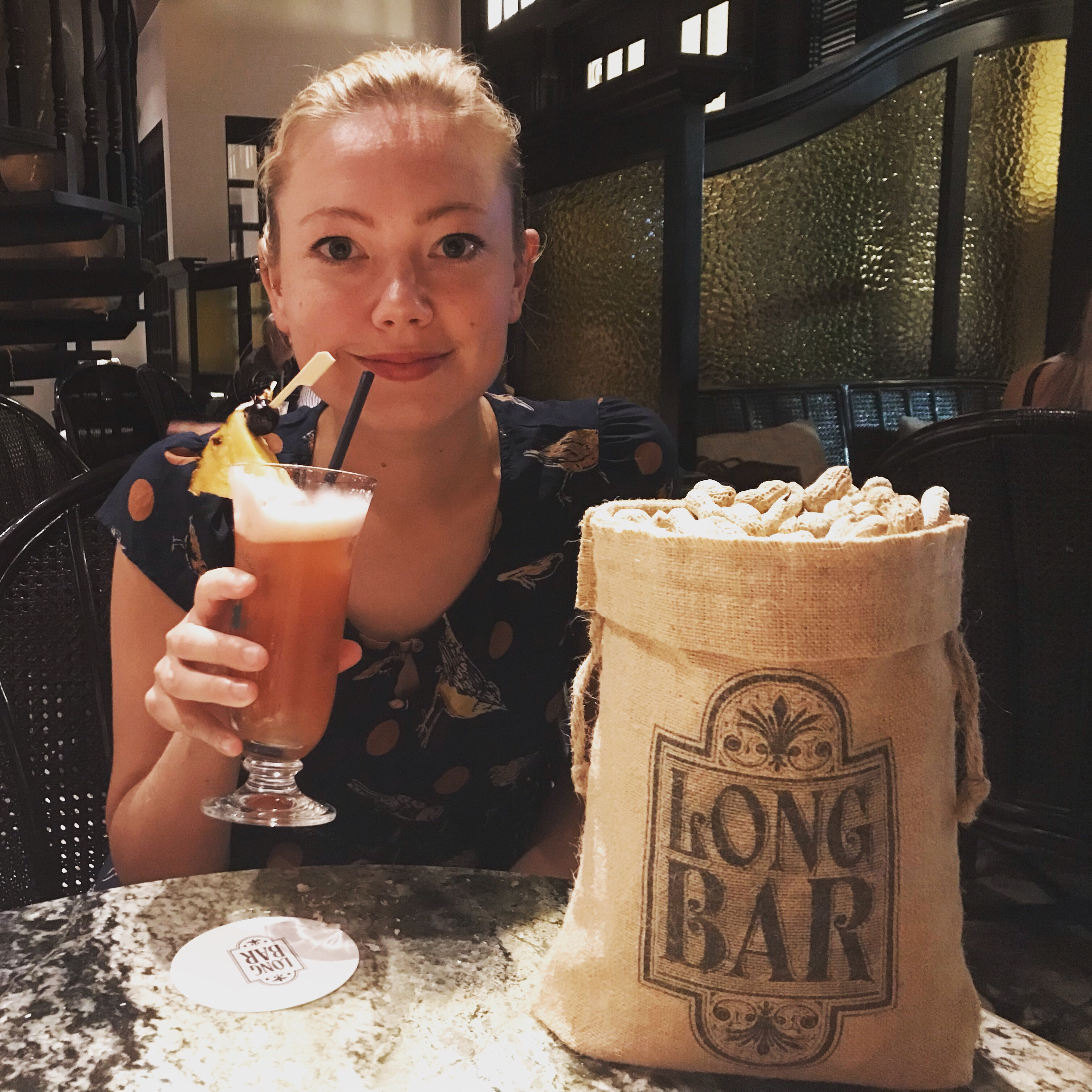 Going For A Singapore Sling At Long Bar In Raffles Singapore Land Of Size