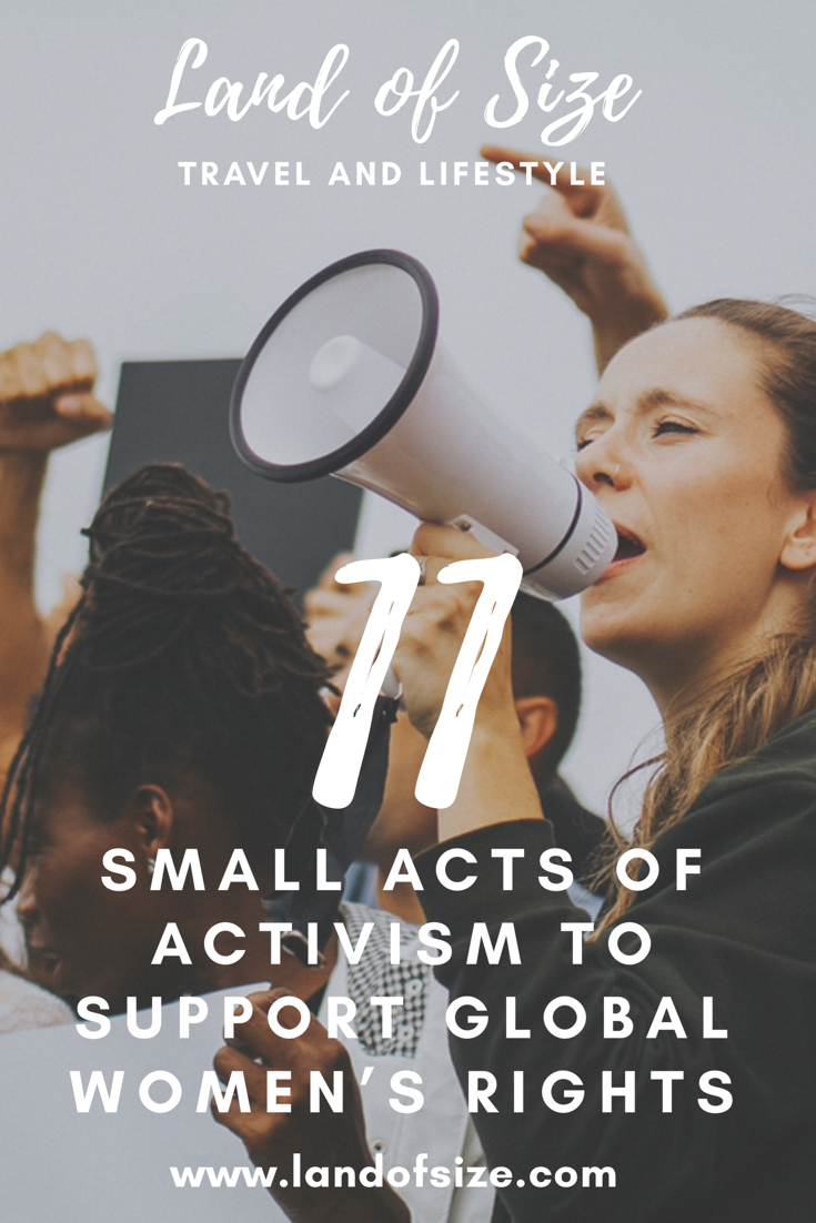 11 small acts of activism to support global women's rights