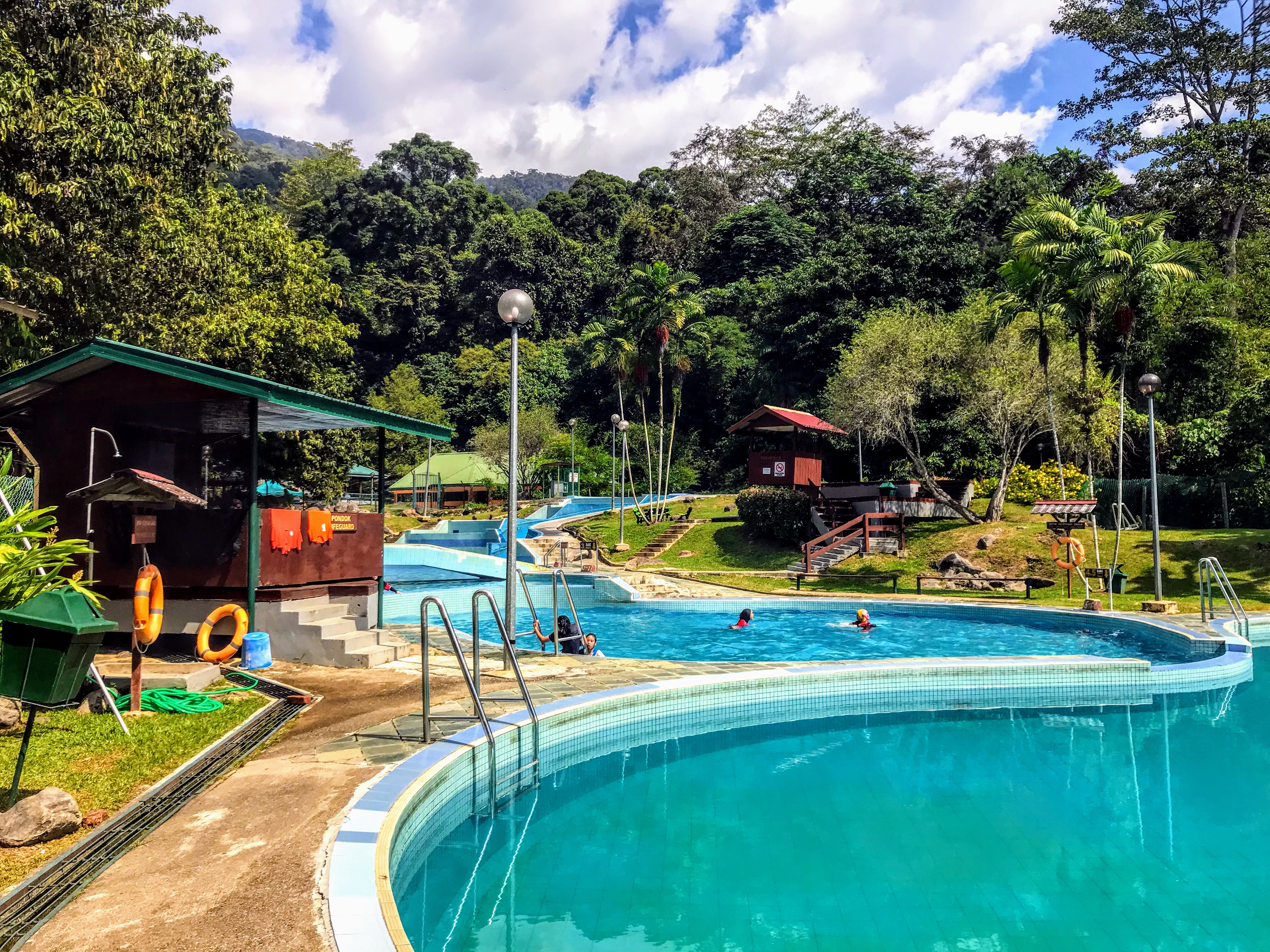 Swimming pool at Poring Hot Springs, Borneo, Malaysia