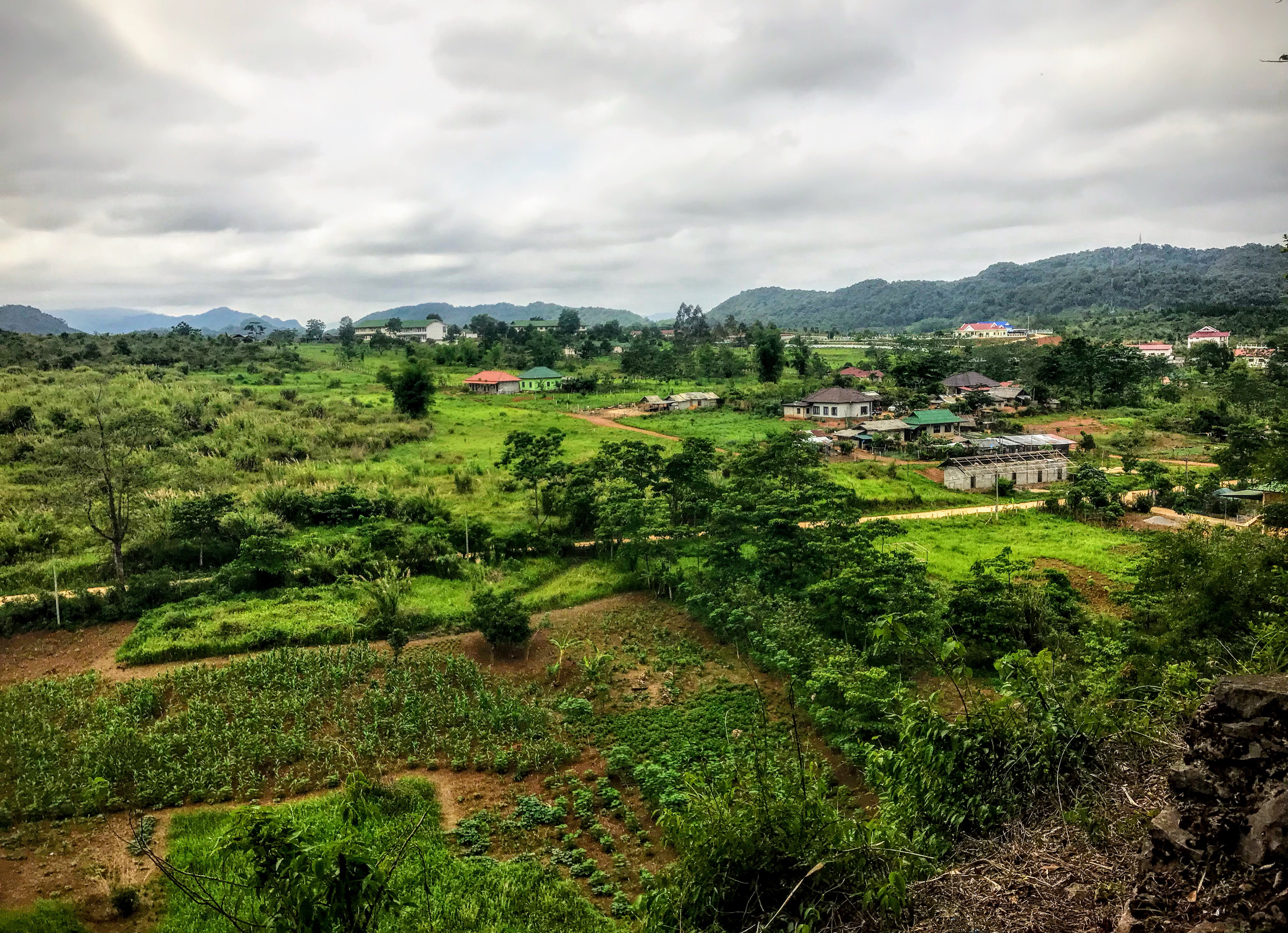 The view from the Vieng Xai caves, Laos
