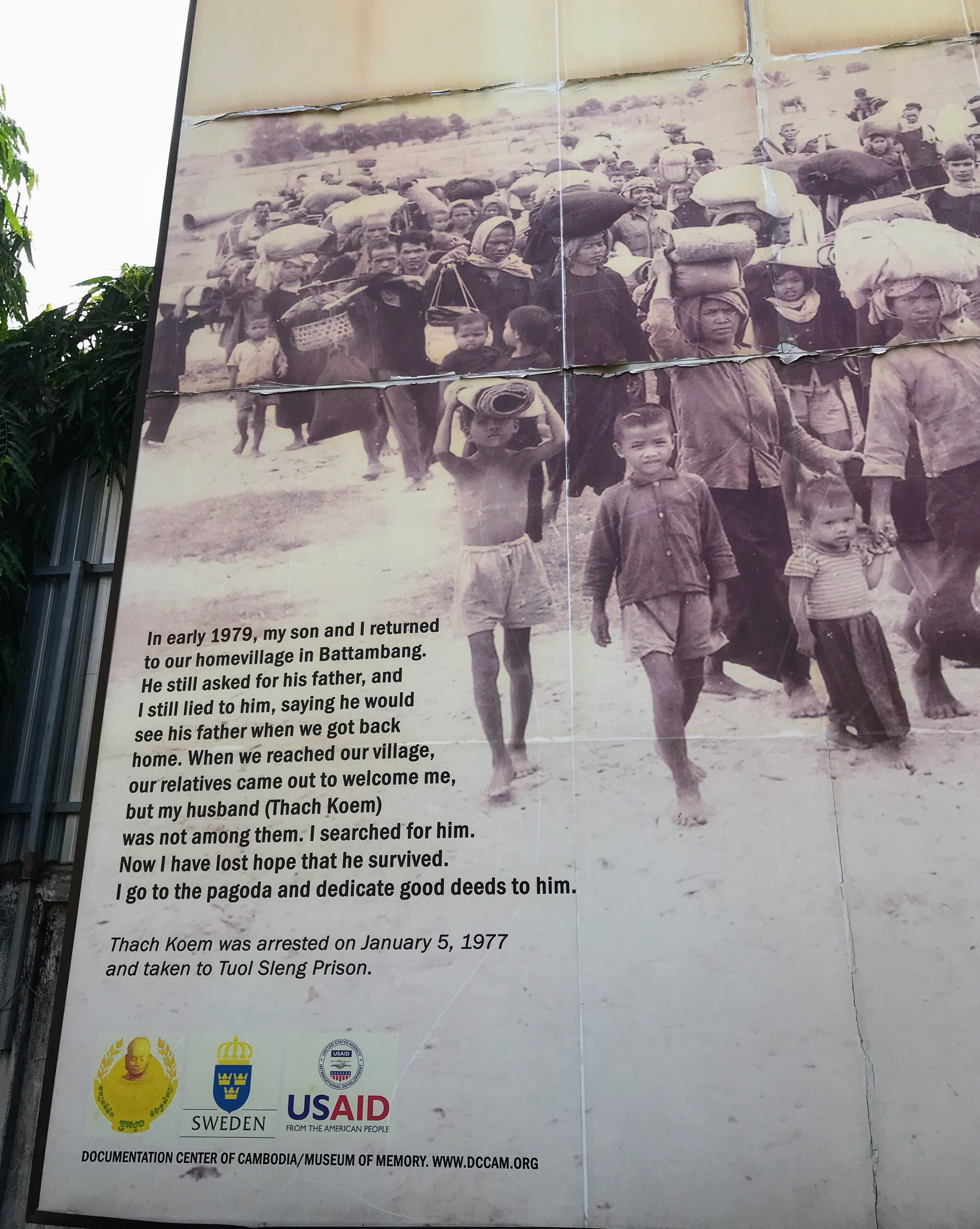 Poster at the Tuol Sleng Museum of Genocide, Cambodia