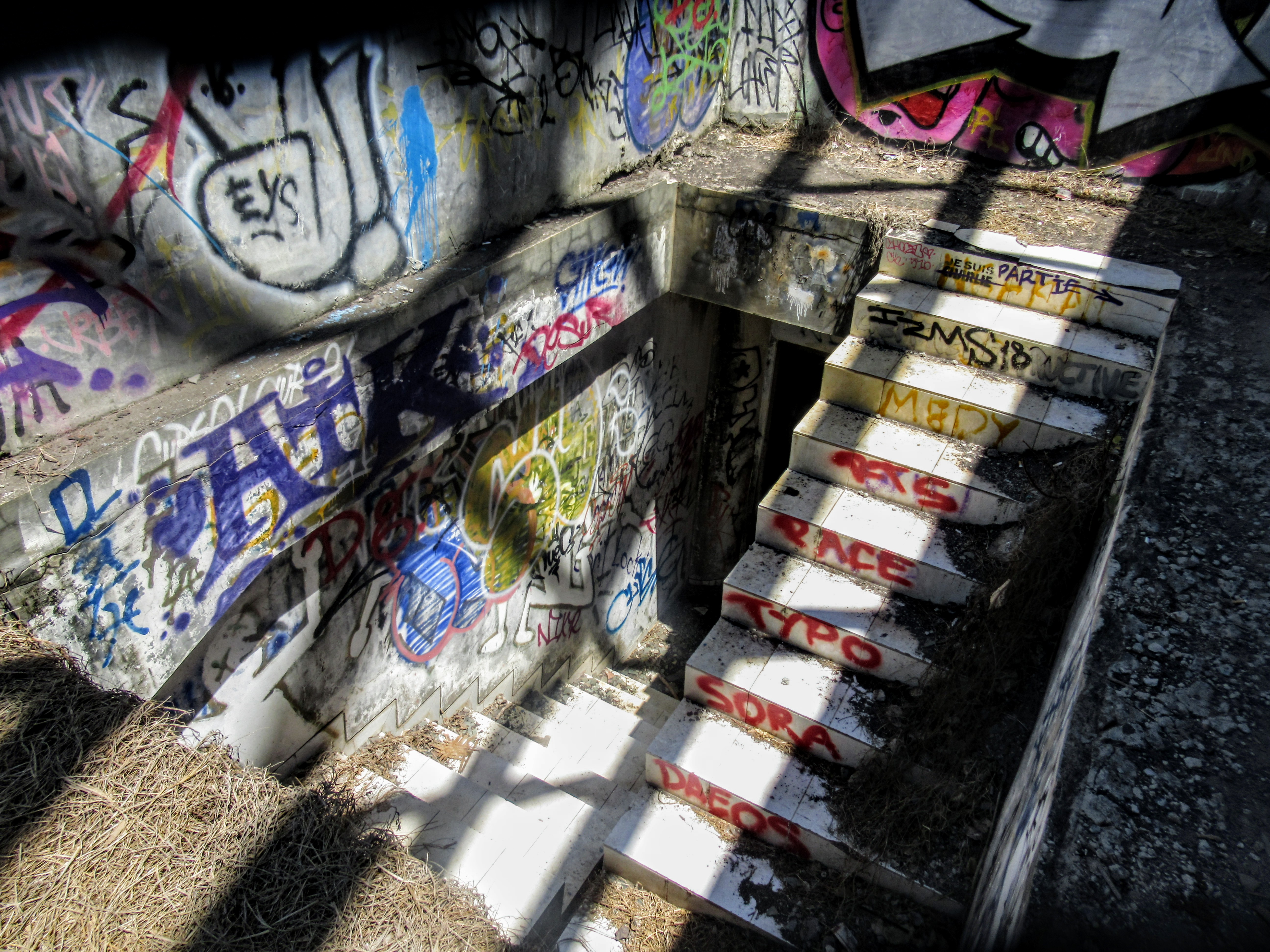Stairs at Taman Festival abandoned theme park, Bali