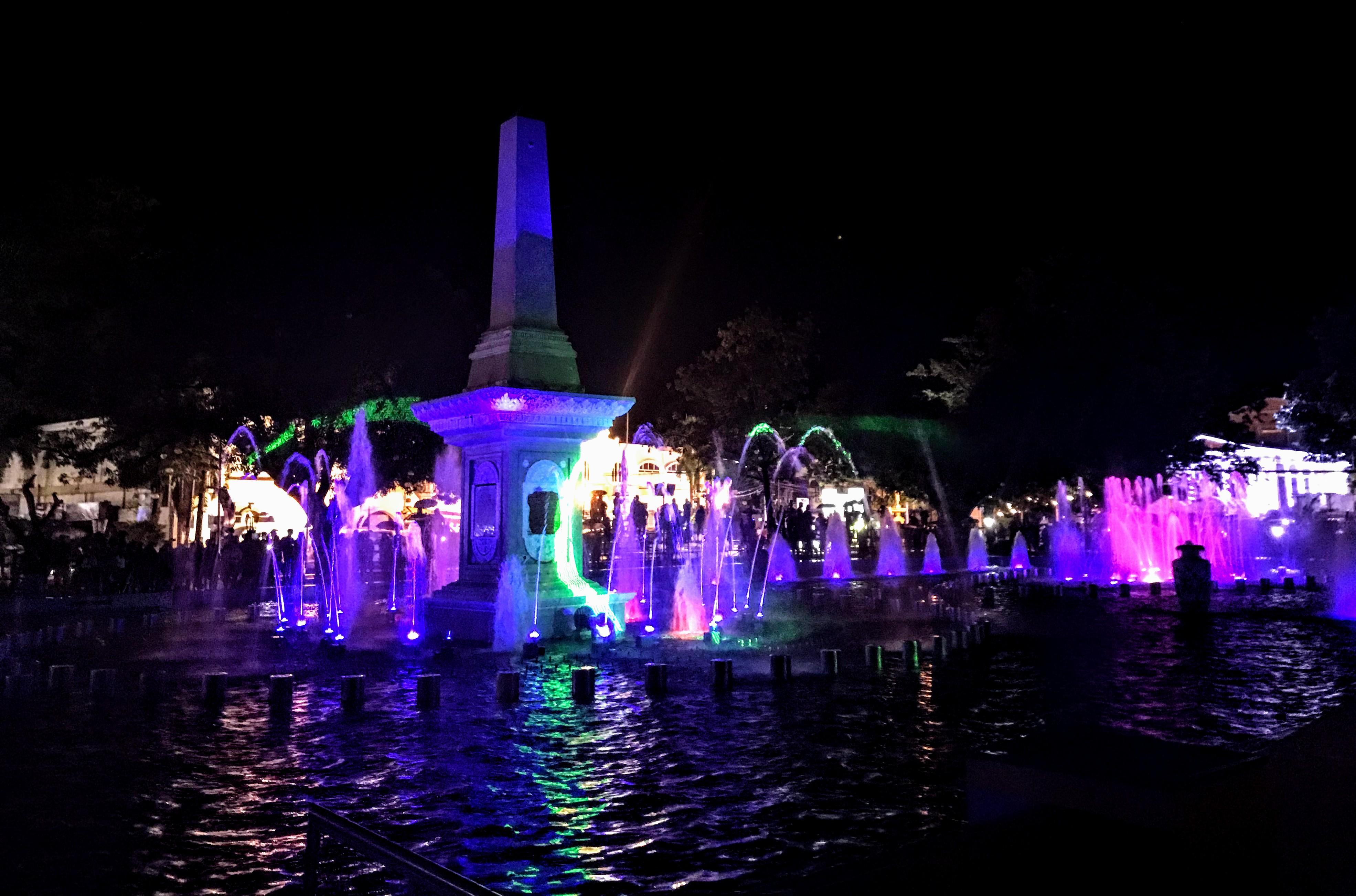 Plaza Salcedo (dancing fountain), Vigan, Philippines
