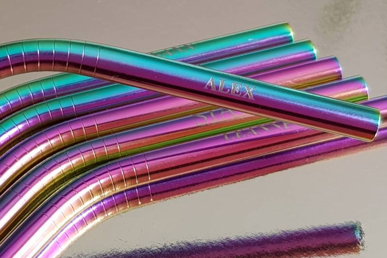 Engraved straws by NHKcrafts