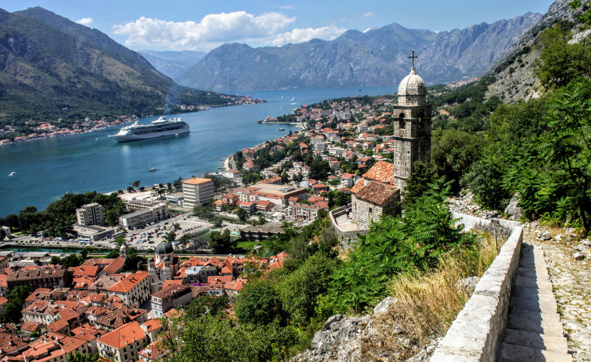 Cruise ship in Kotor, Montenegro