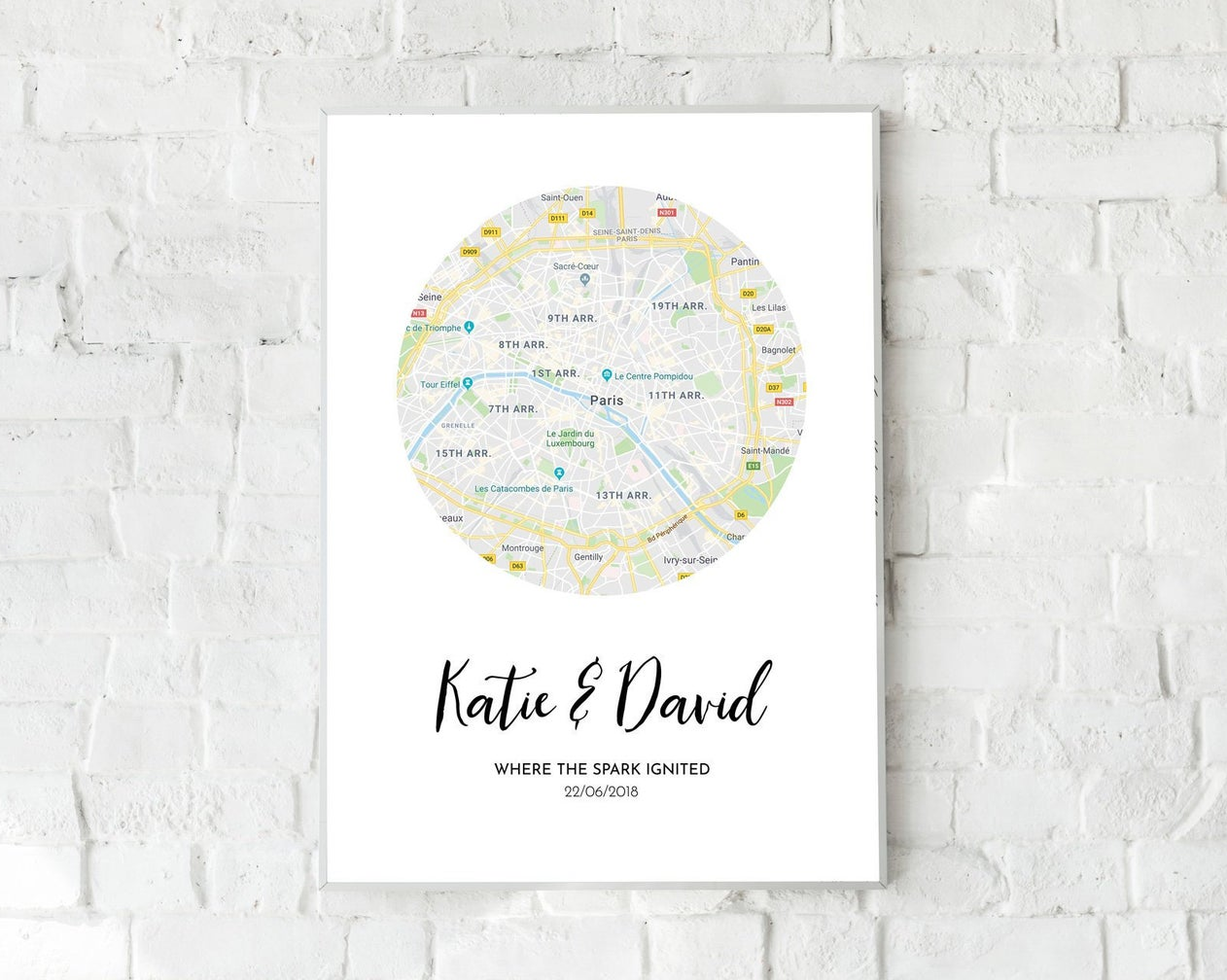 Personalised map print, Etsy