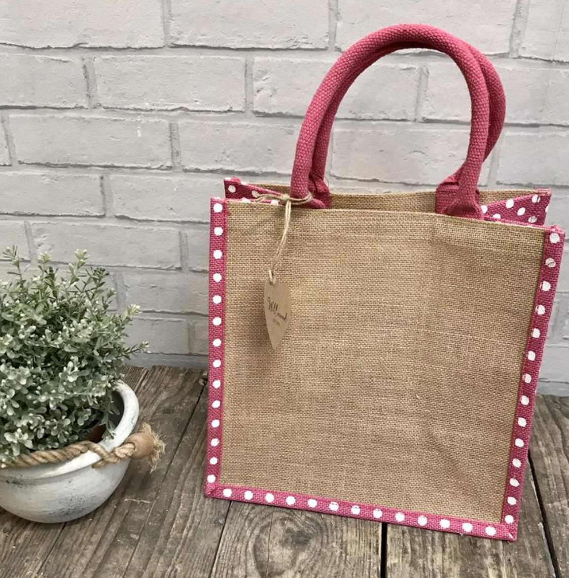 Natural jute bag, Etsy
