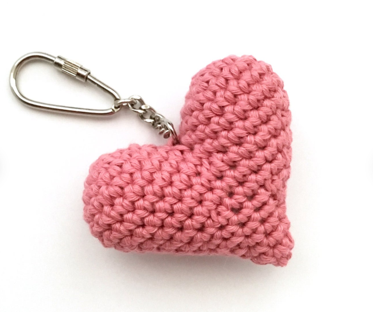 Crochet heart ring, Etsy