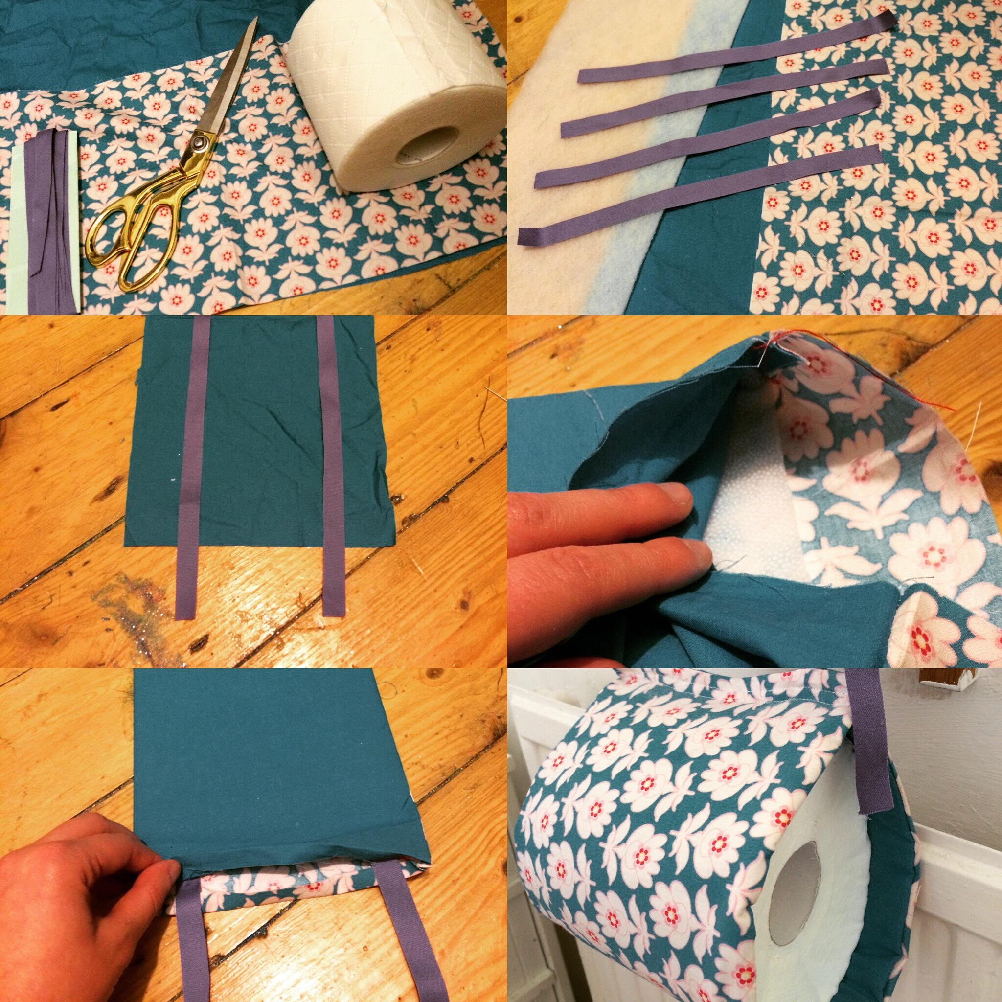 Sewing a toilet roll holder
