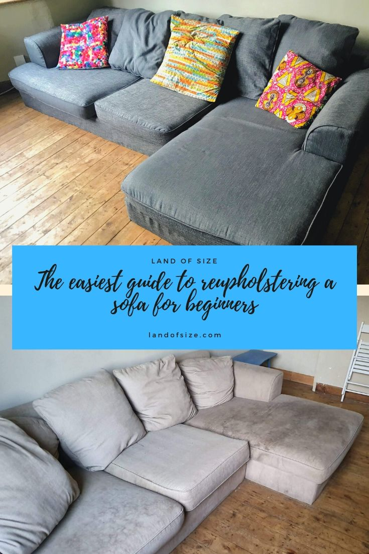 The easiest guide to reupholstering a sofa for beginners