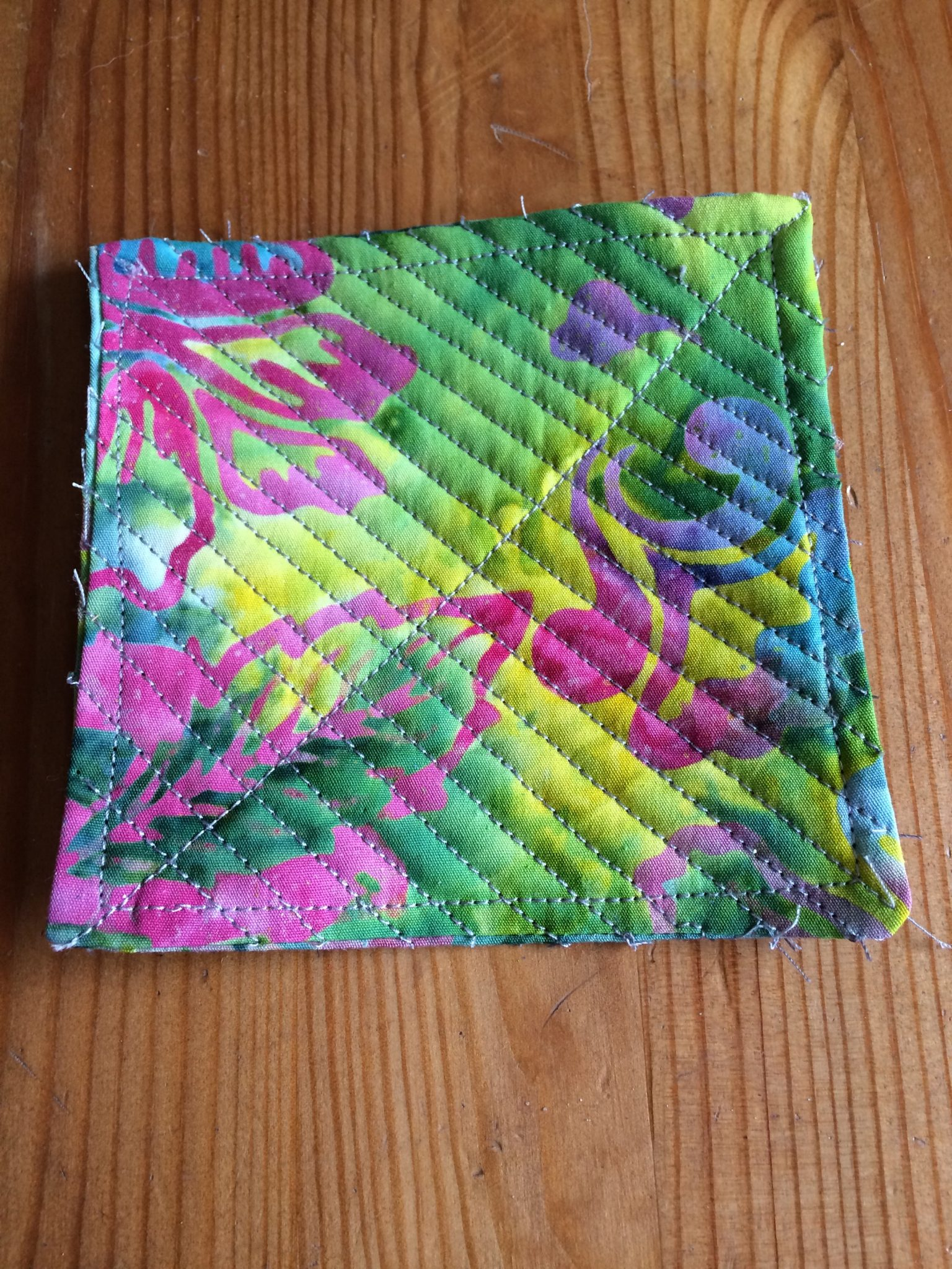 How to sew a quilted coaster