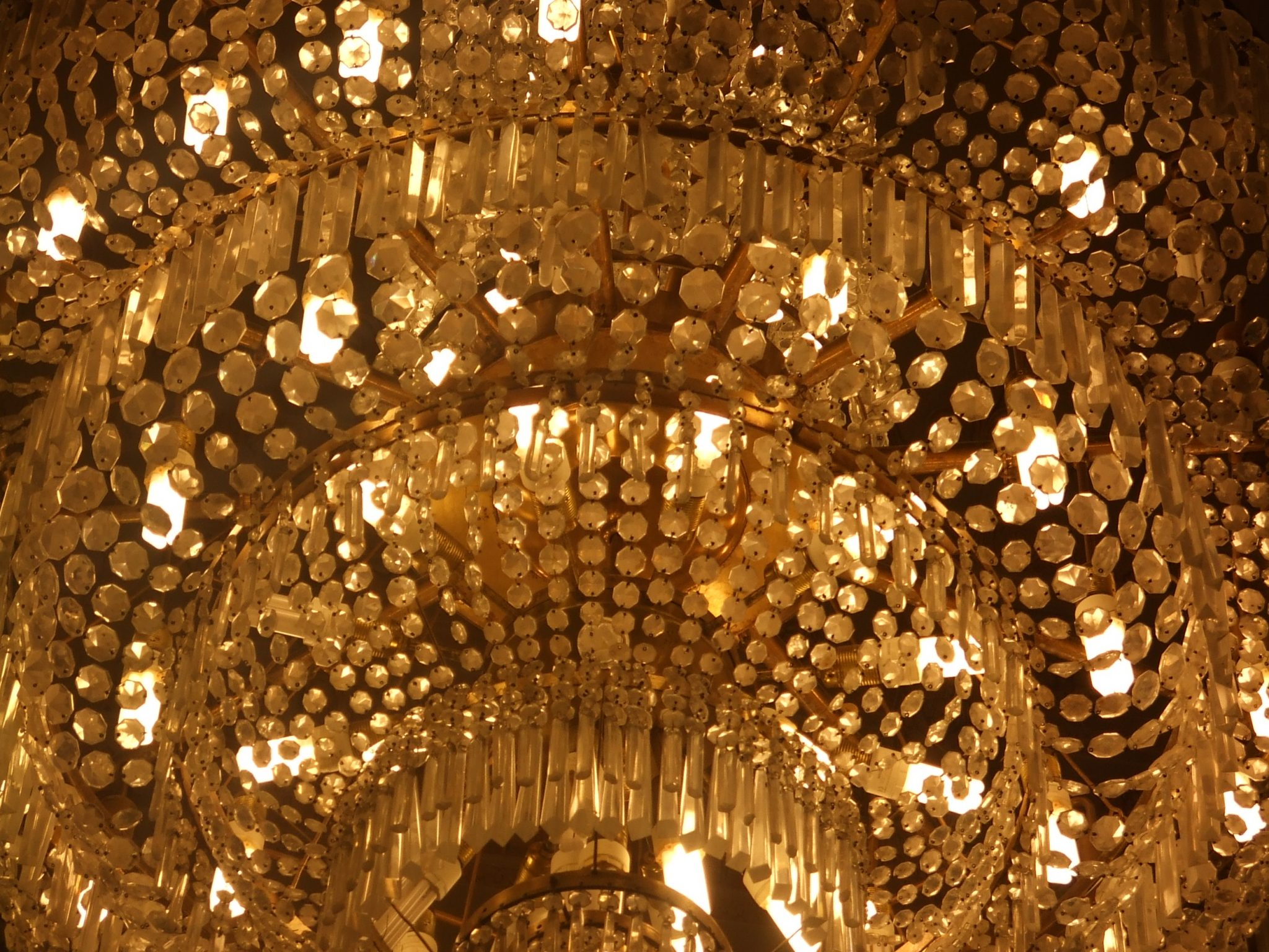 Chandelier in the Palace of Parliament, Bucharest