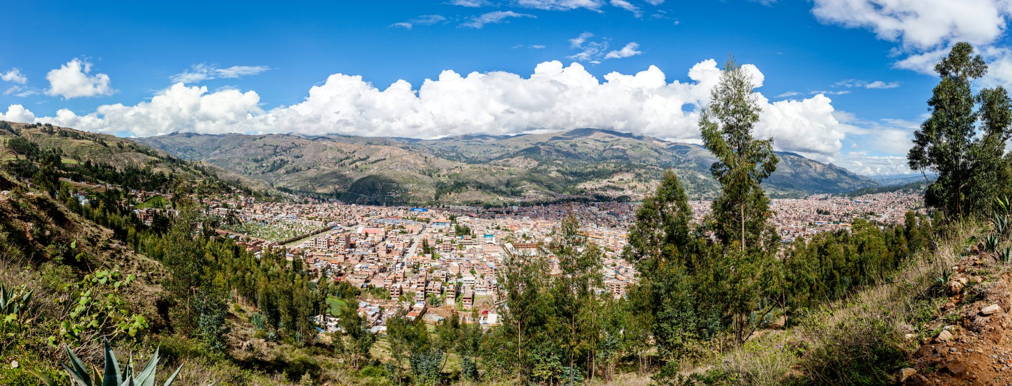 Panoramic view of Huaraz, Peru