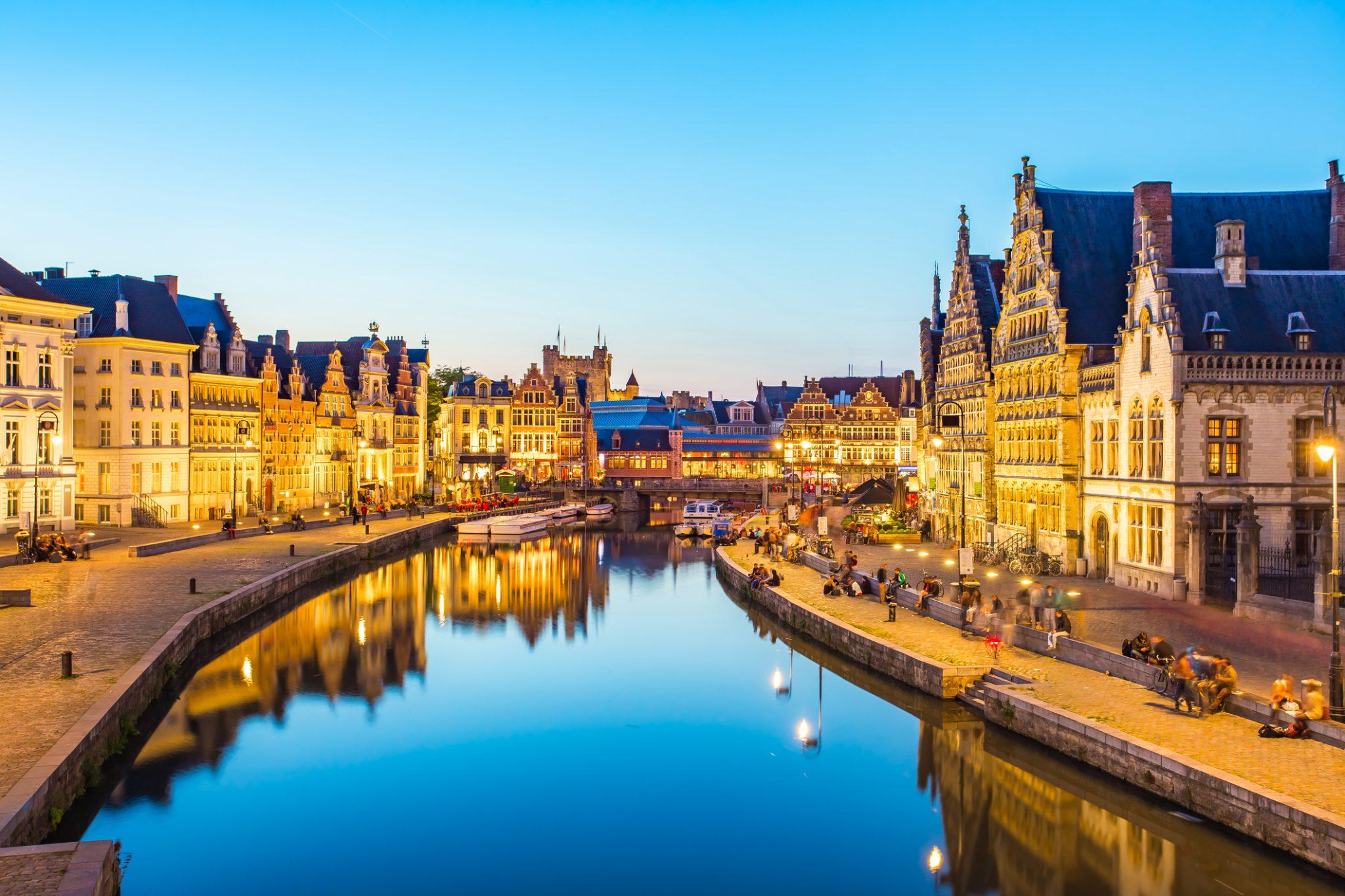 Ghent canal in Belgium.