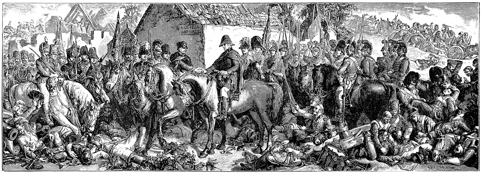 The Meeting of Wellington and Blücher after the Battle of Waterloo