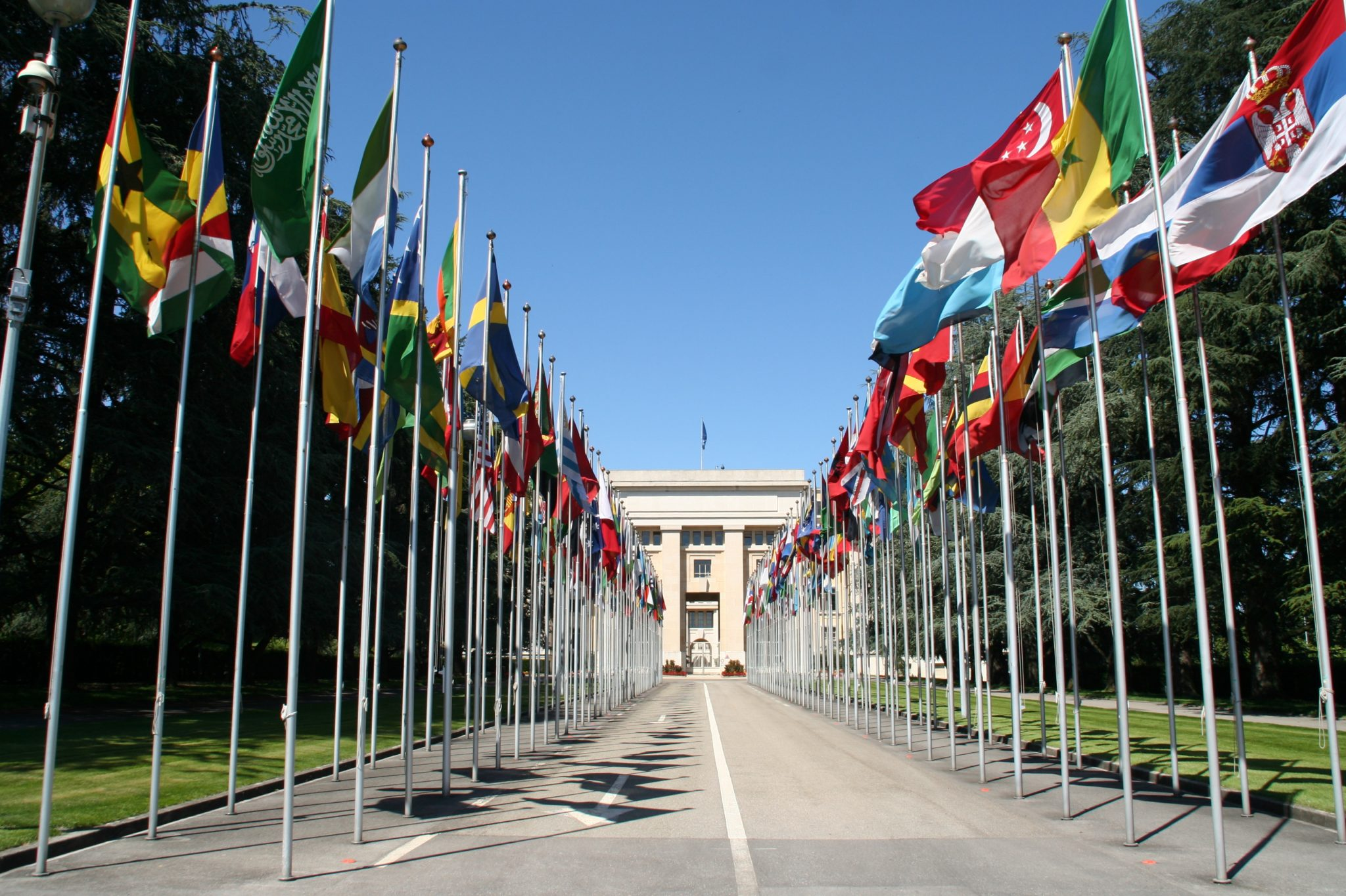The UN building in Geneva