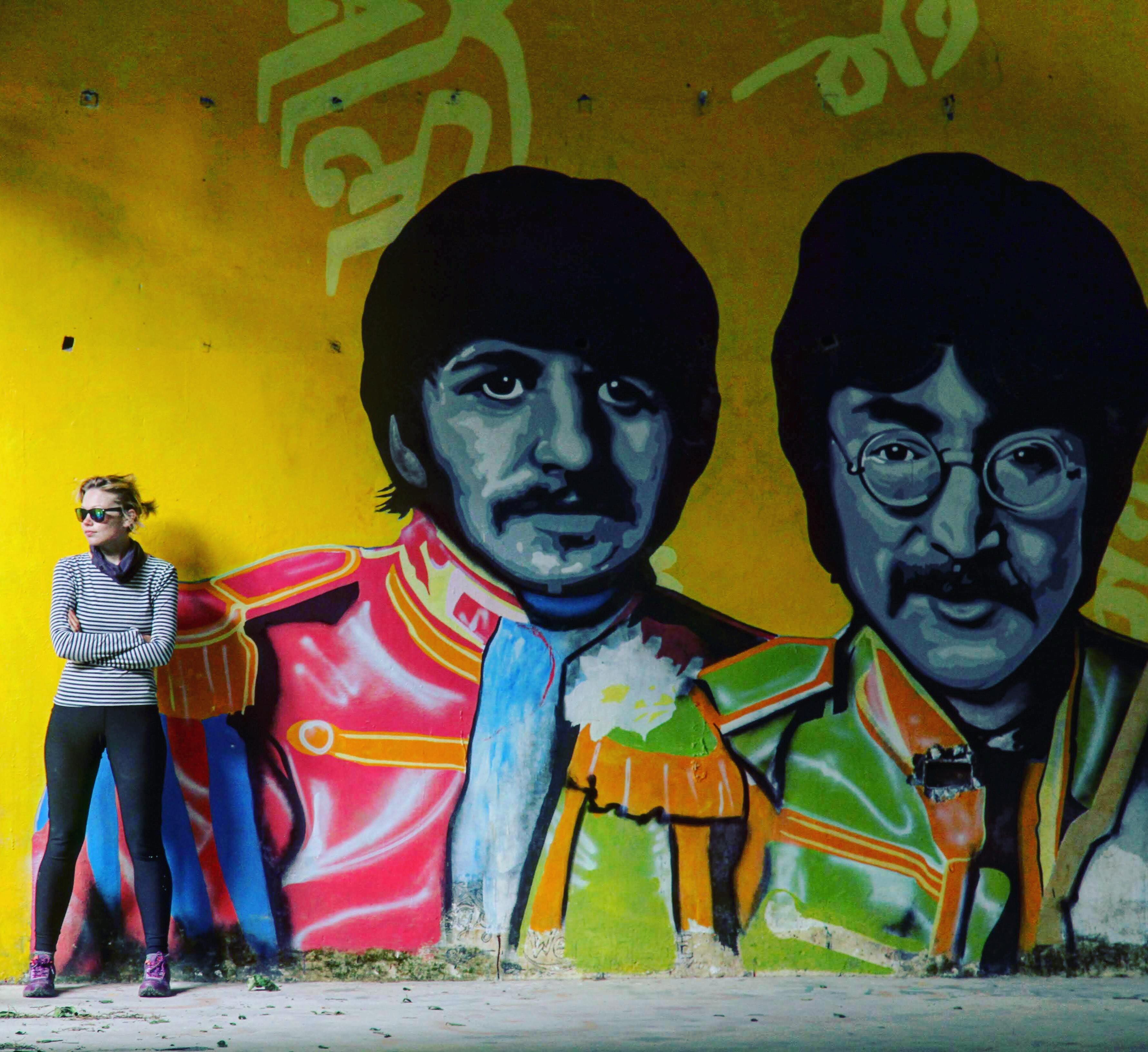 George and John graffiti, The Beatles Ashram, Rishikesh