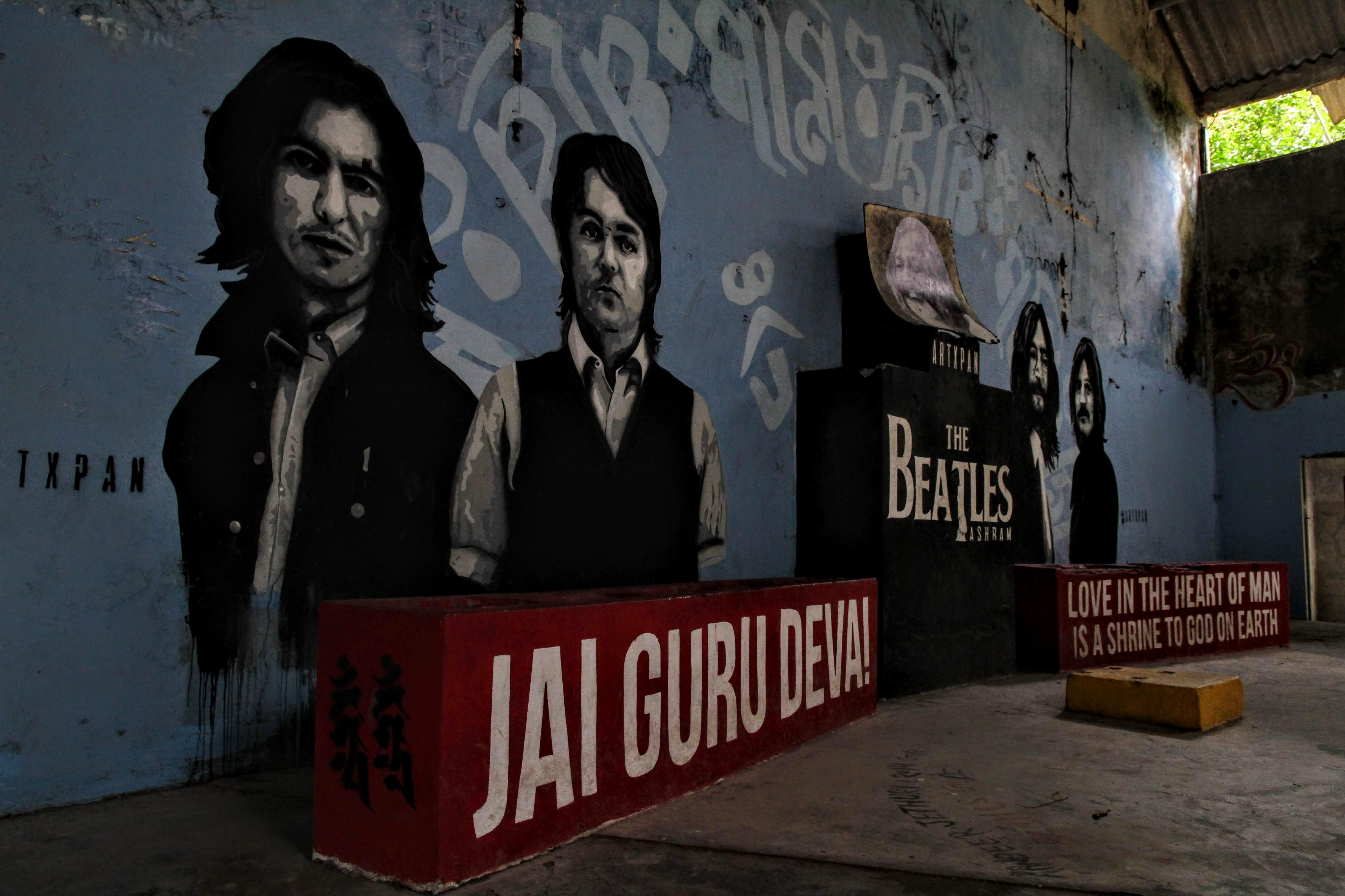 Band graffiti, The Beatles Ashram, Rishikesh