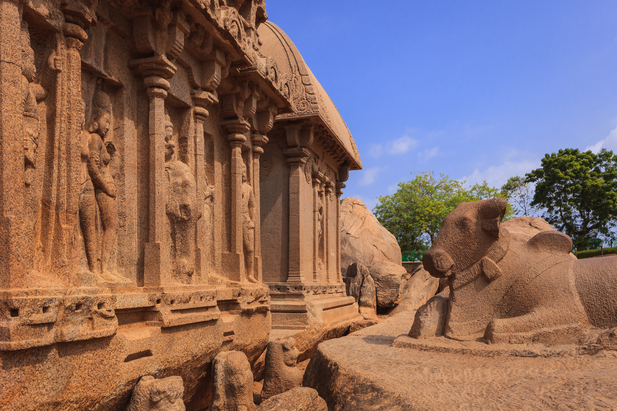 Pancha Rathas, Mahabalipuram, South India