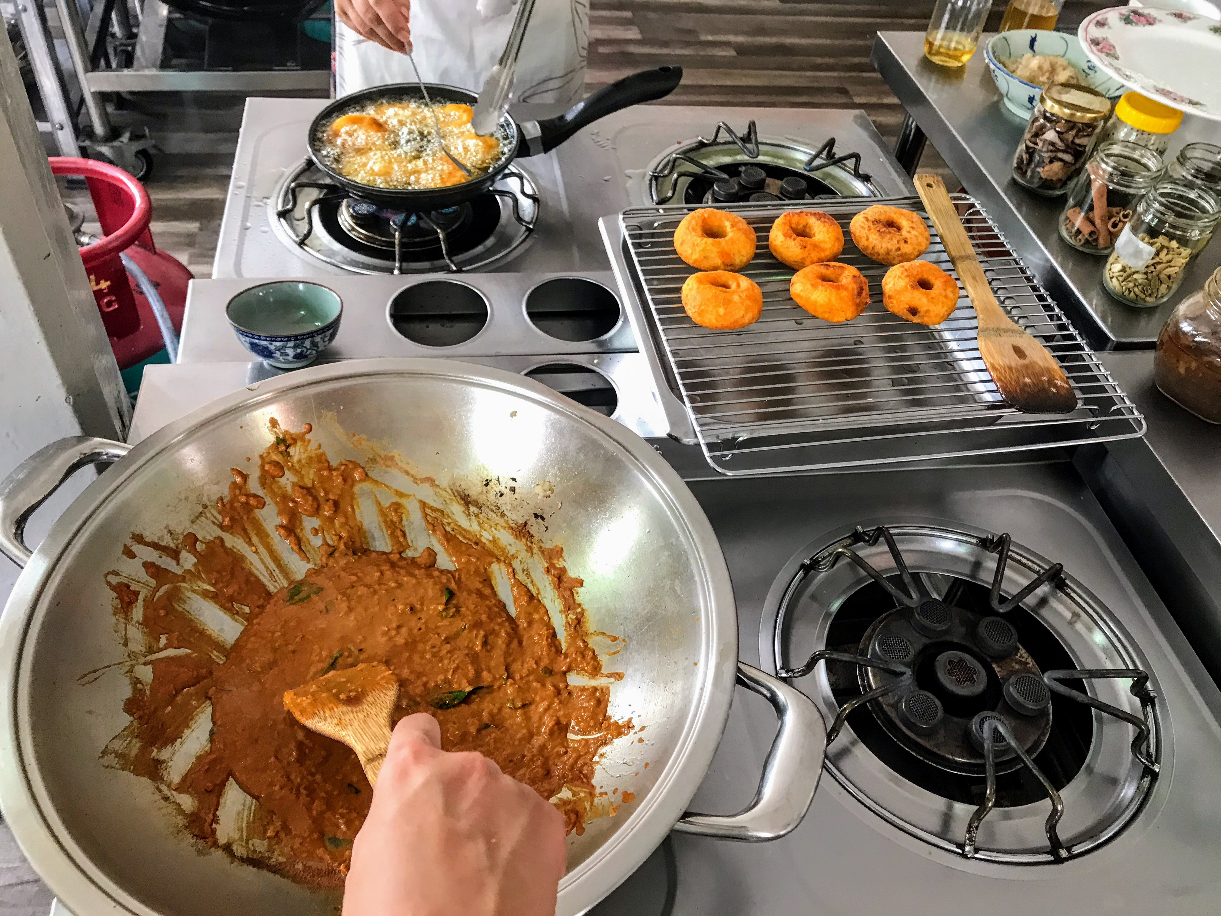 Taking a vegetarian Malaysian cooking class in George Town, Penang