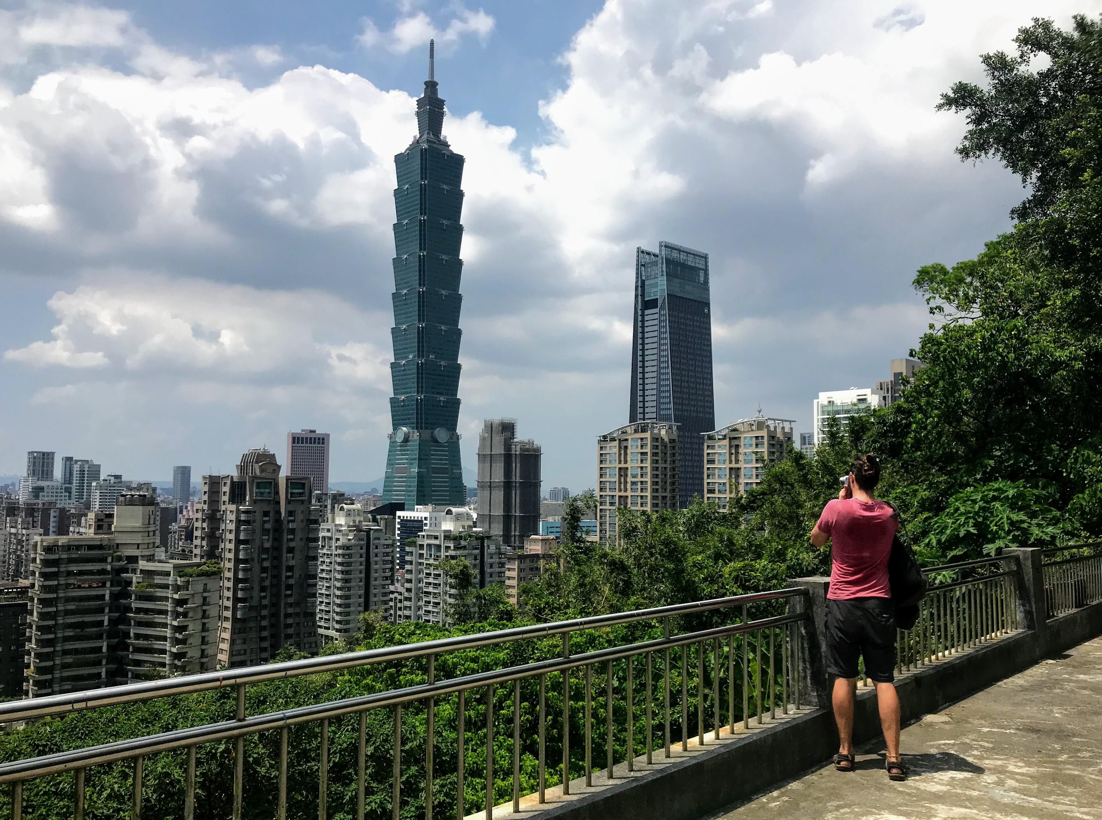 Taipei 101 from the Xiangshan Trail, Taipei, Taiwan