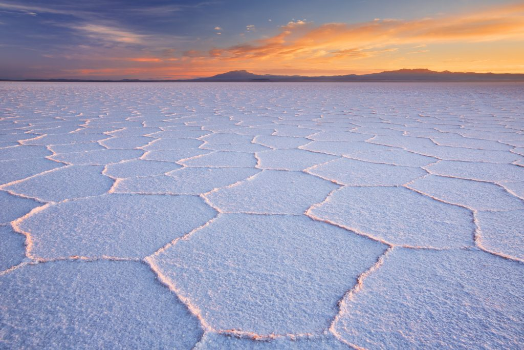 The world's largest salt flat, Salar de Uyuni in Bolivia