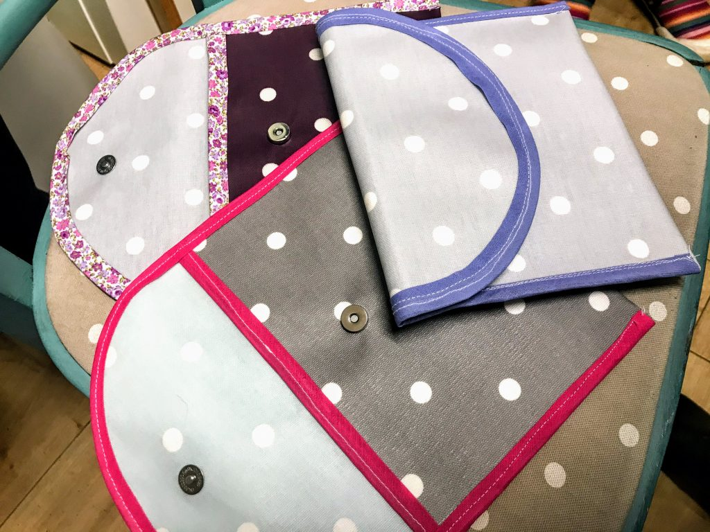 Sewing pouches at French Knots craft studio