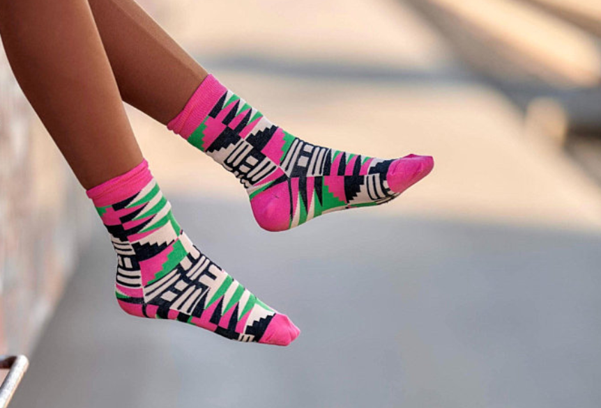 Funky socks by Afrocentric Accessories, Etsy