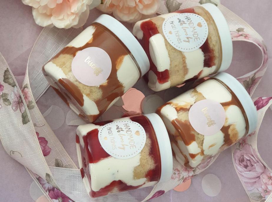 Cake jars by Krazi Kakes, Etsy