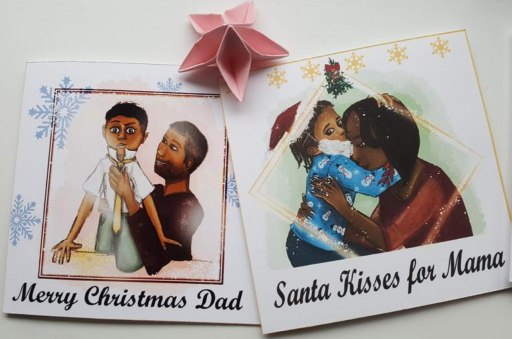 Christmas cards by Dark But I Like It, Etsy